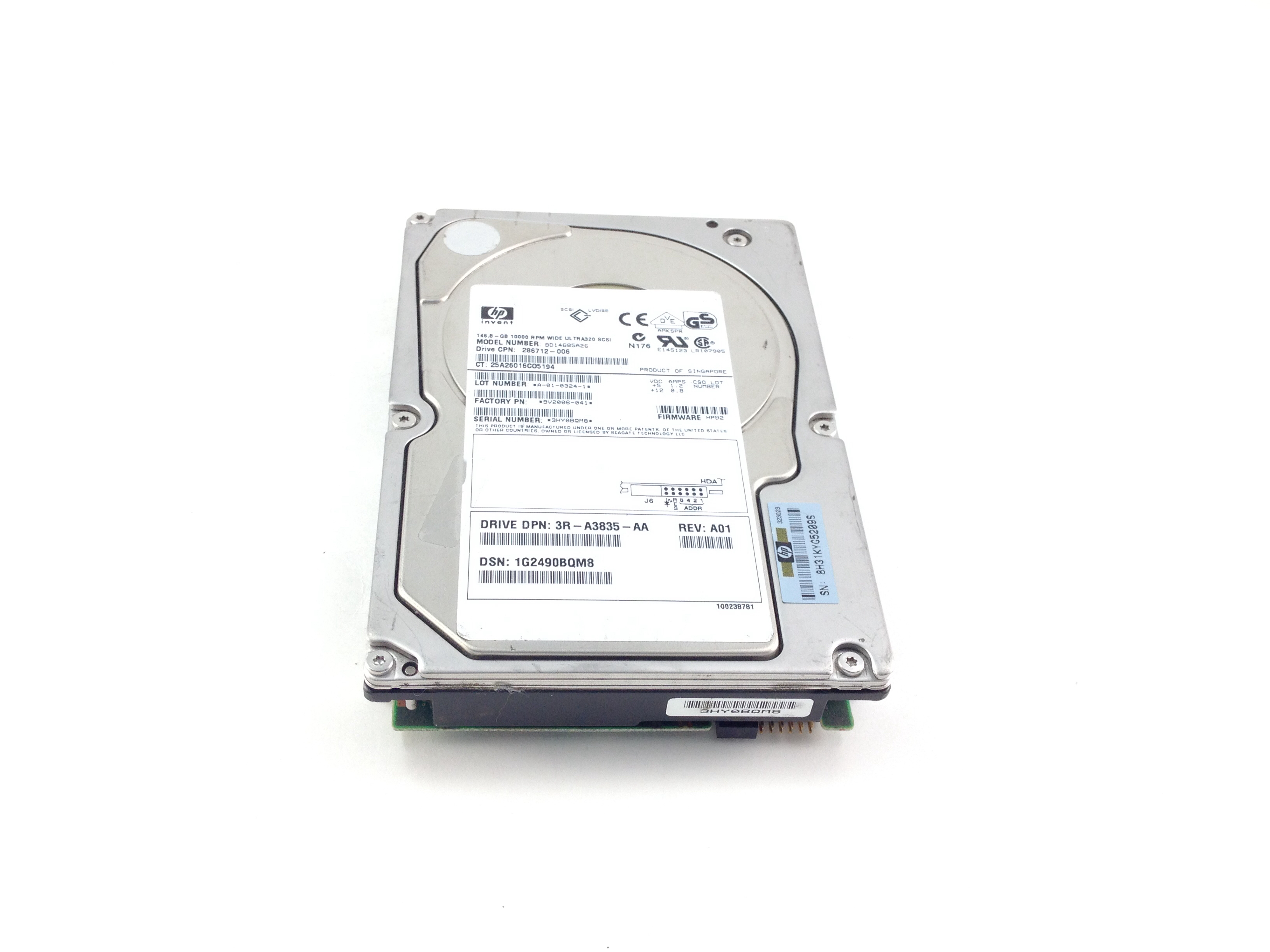 HP U320 146GB 10K 3.5'' Hard Drive (286712-006)