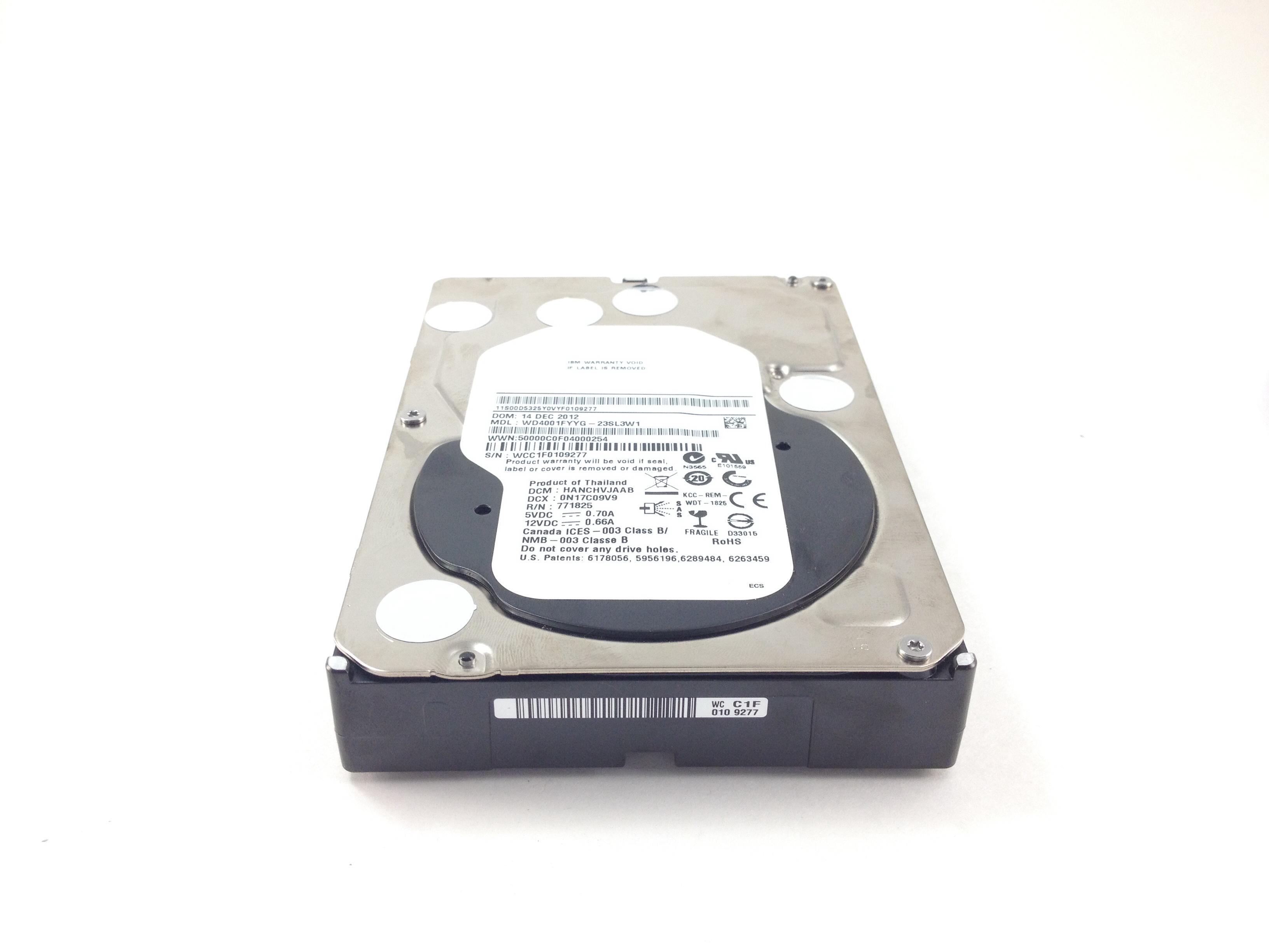 IBM 4Tb 7.2K 6Gbps 32MB SAS 3.5'' Hard Drive (00D5325)