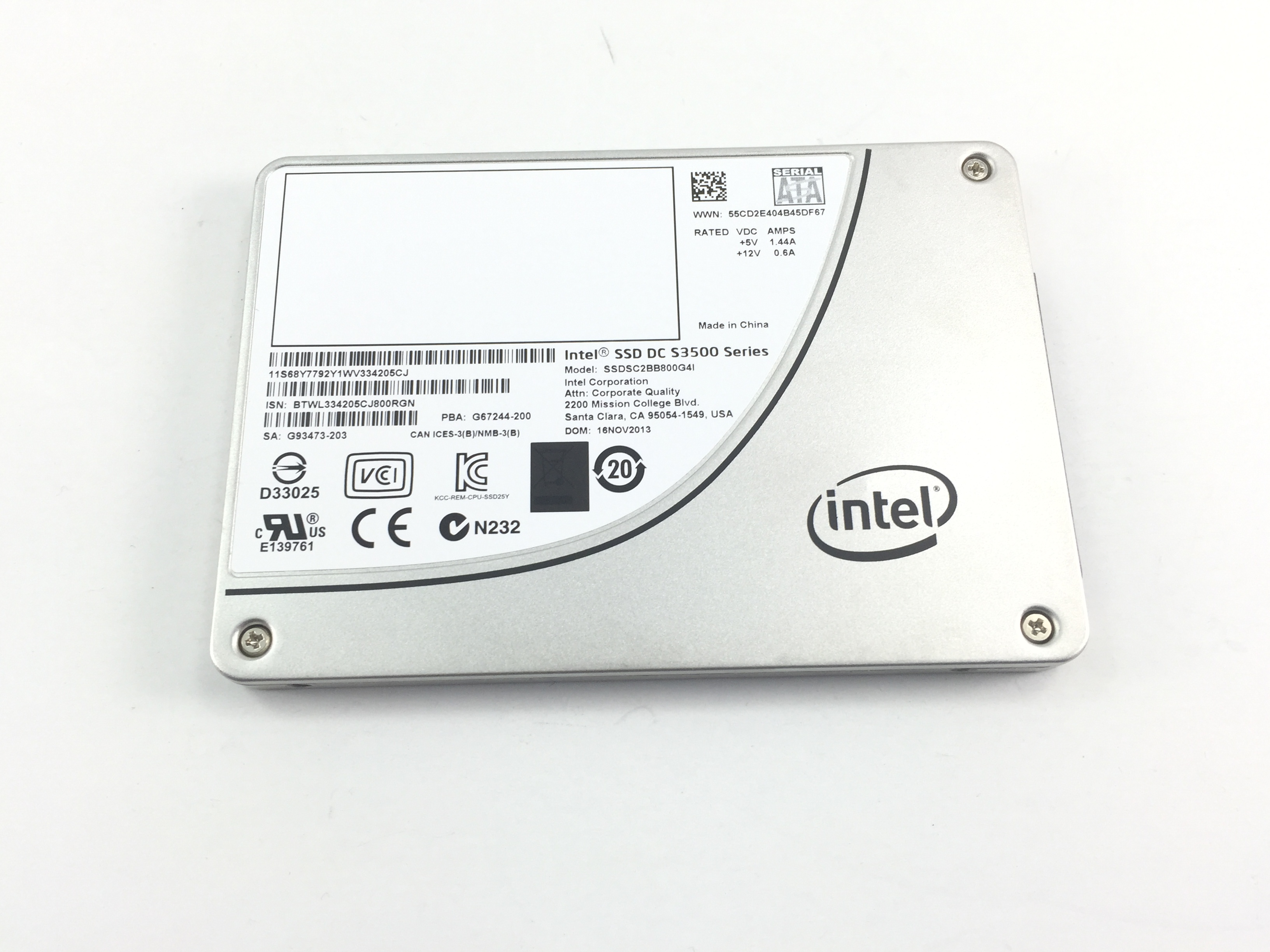 IBM Intel 800GB SATA 2.5'' S3500 Series Solid State Drive (68Y7792)