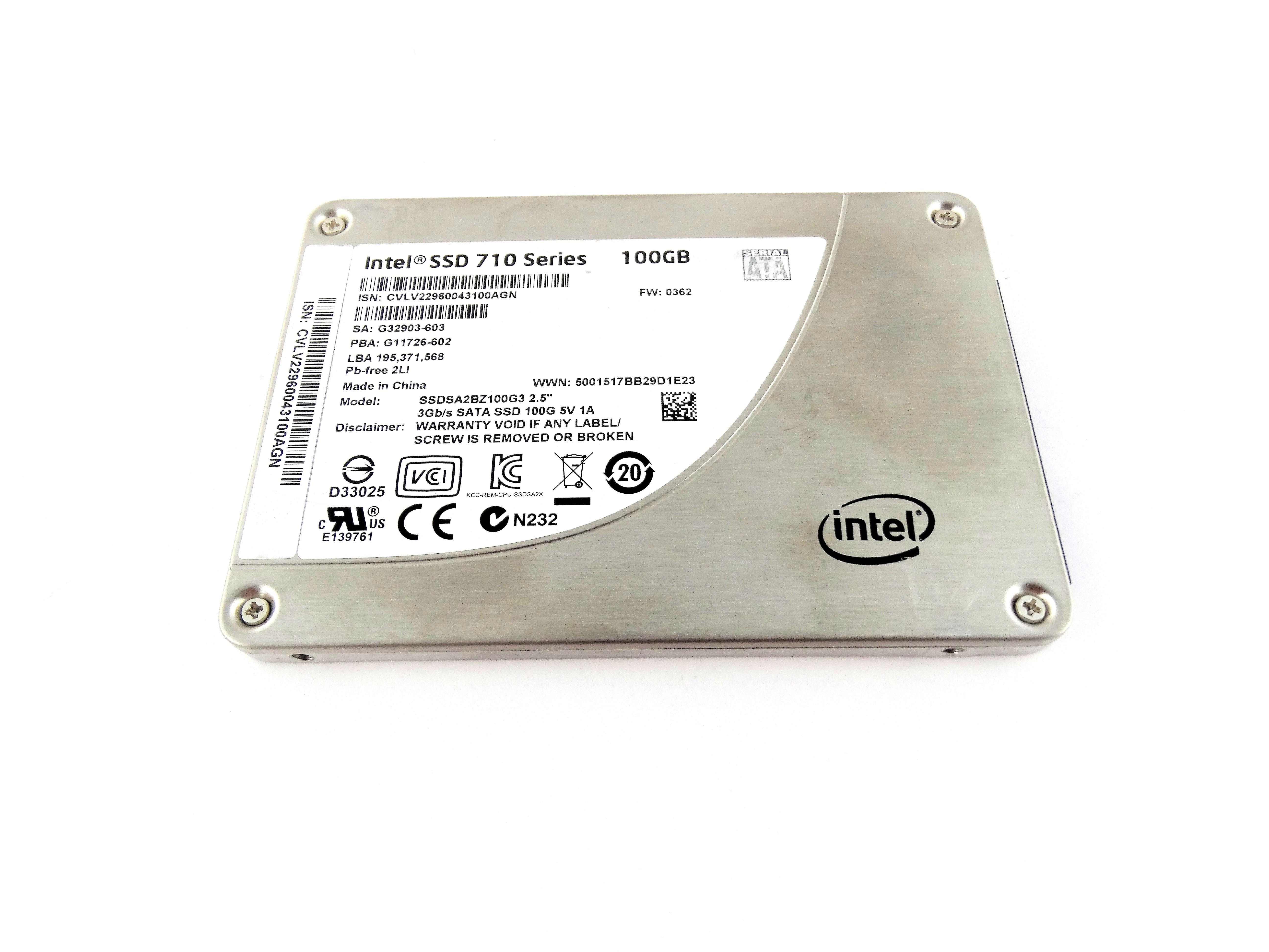 Intel SSD 710 100GB 3Gbps SATA 2.5'' Solid State Drive (SSDSA2BZ100G3)