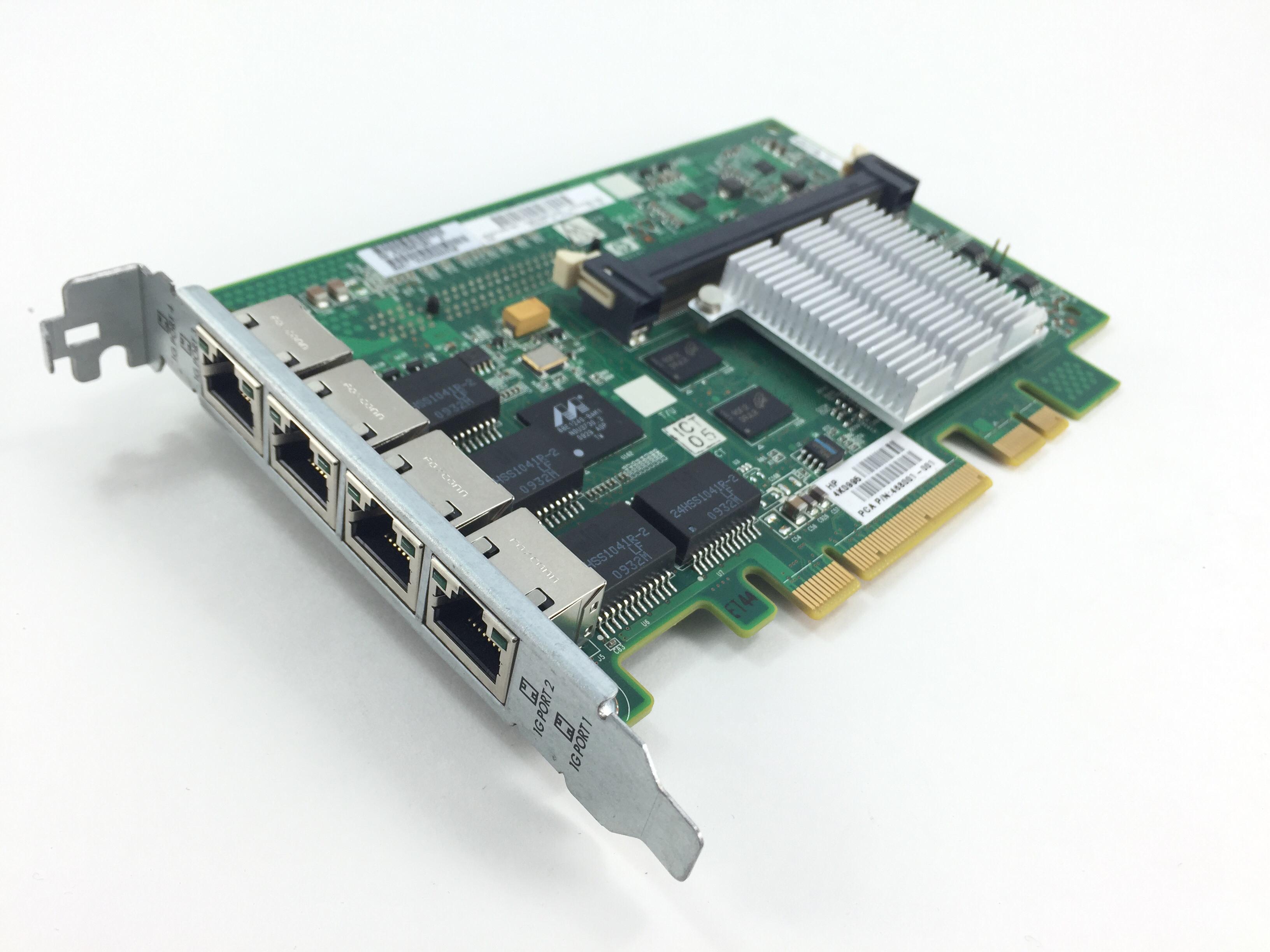 HP  Quad Port 1GB PCI-E Ethernet Adapter (491838-001)