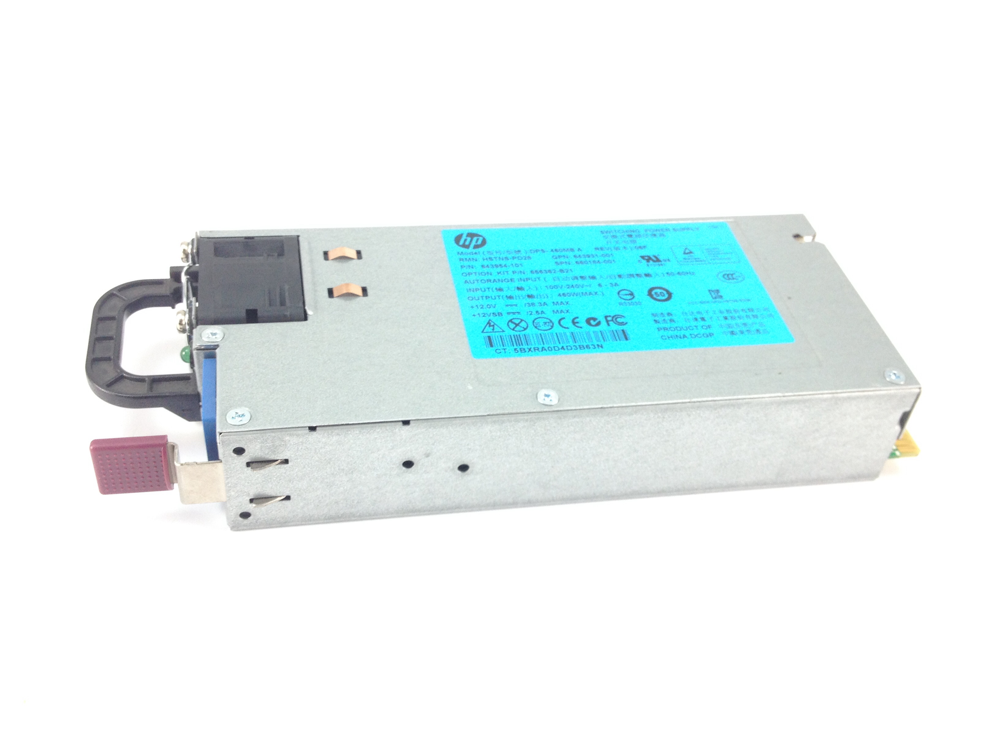 HP 460W Power Supply For DL360 DL360P DL380E Gen8 (660184-001)