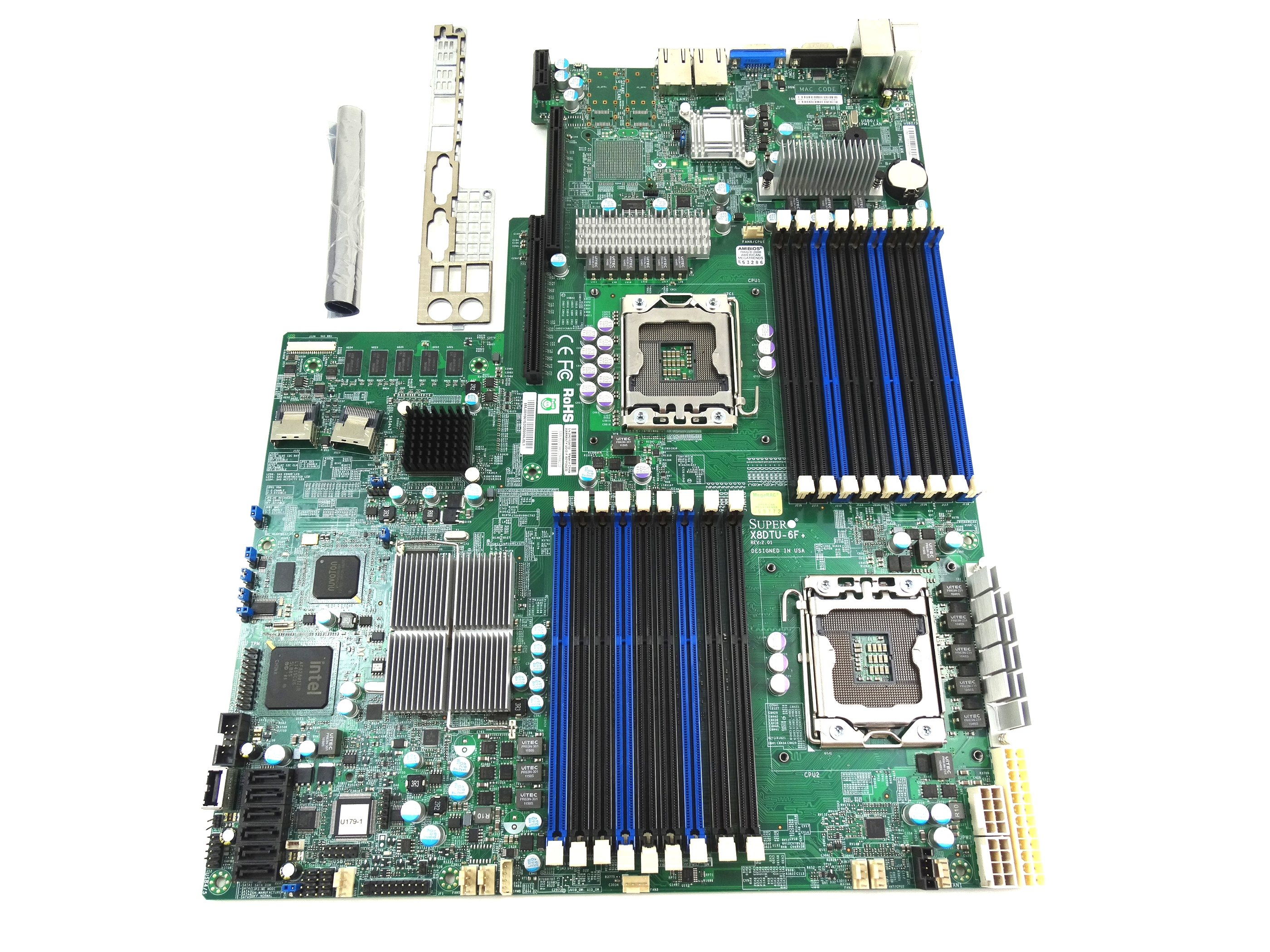 Supermicro Intel Dual Socket LGA1366 Server System Board (X8DTU-6F)