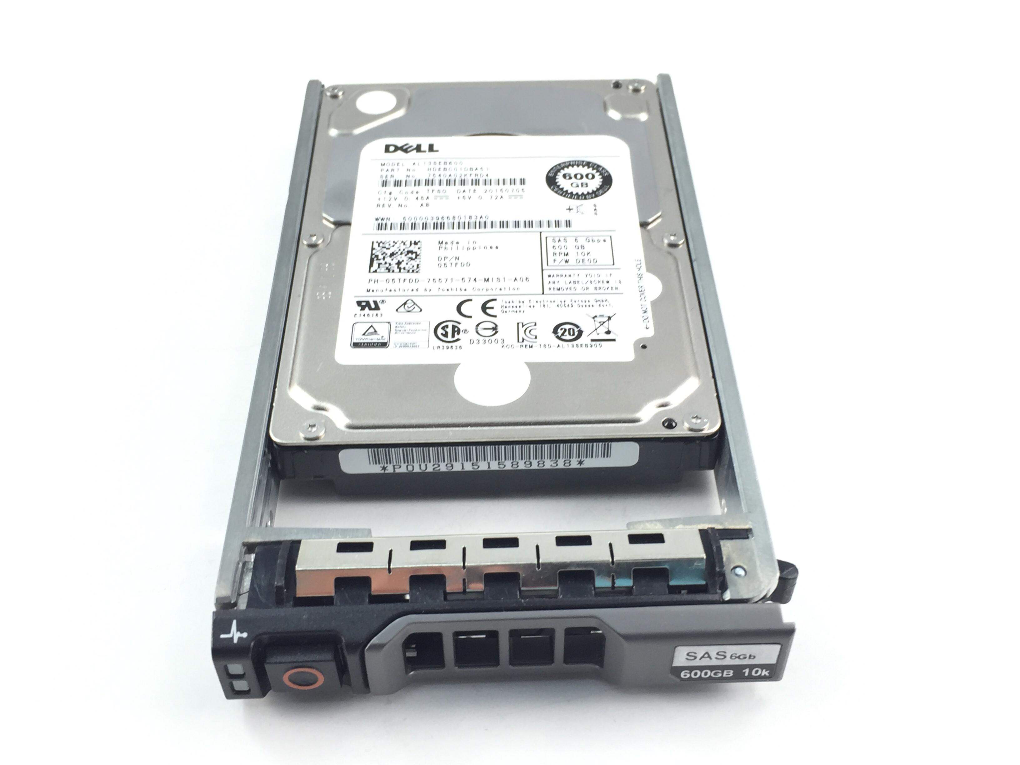 Dell 600GB 10K 6Gb/s SAS 2.5'' Enterprise Hard Drive (5TFDD)