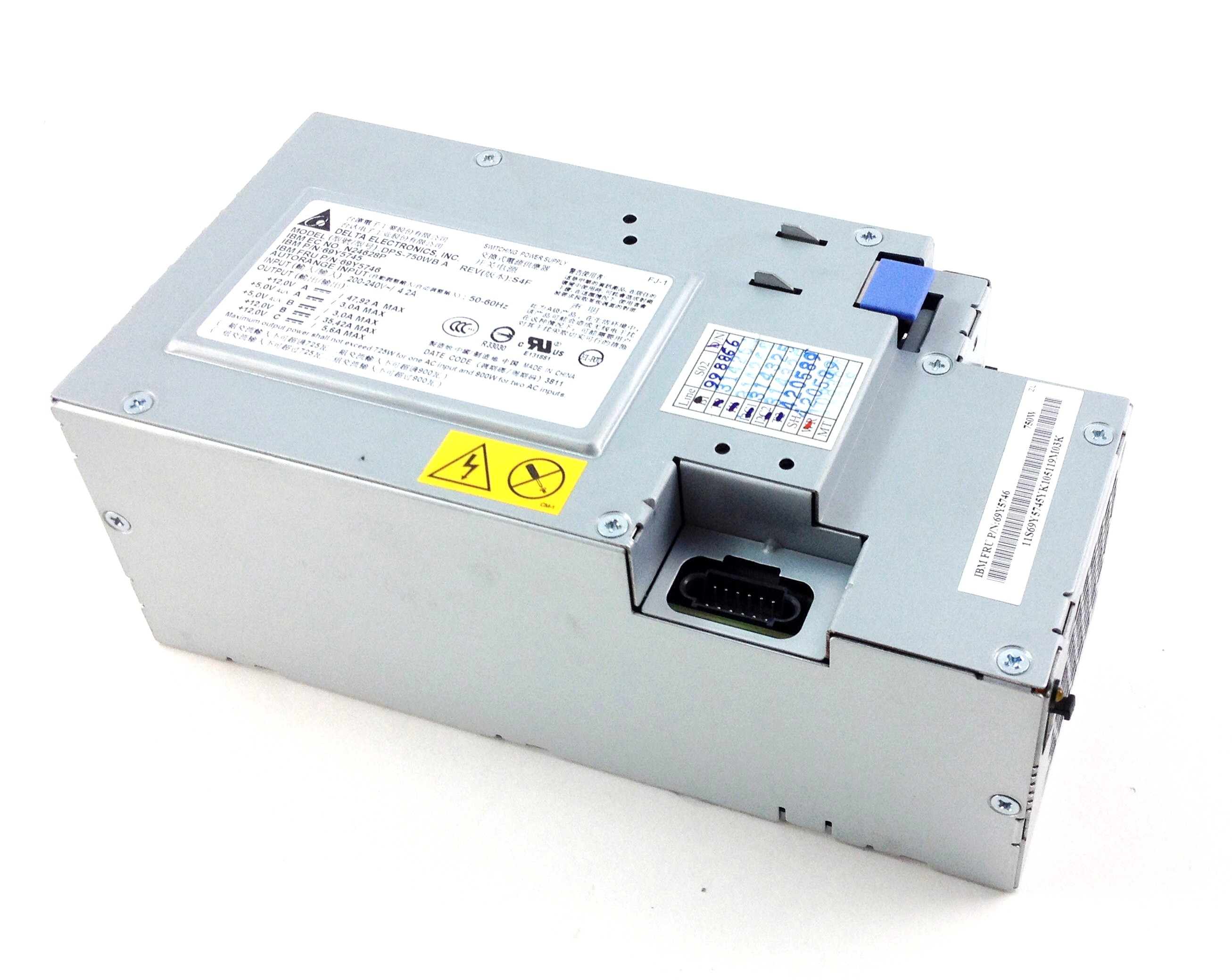 IBM DATAPLEX DX360 M3 750W SERVER POWER SUPPLY (69Y5746)