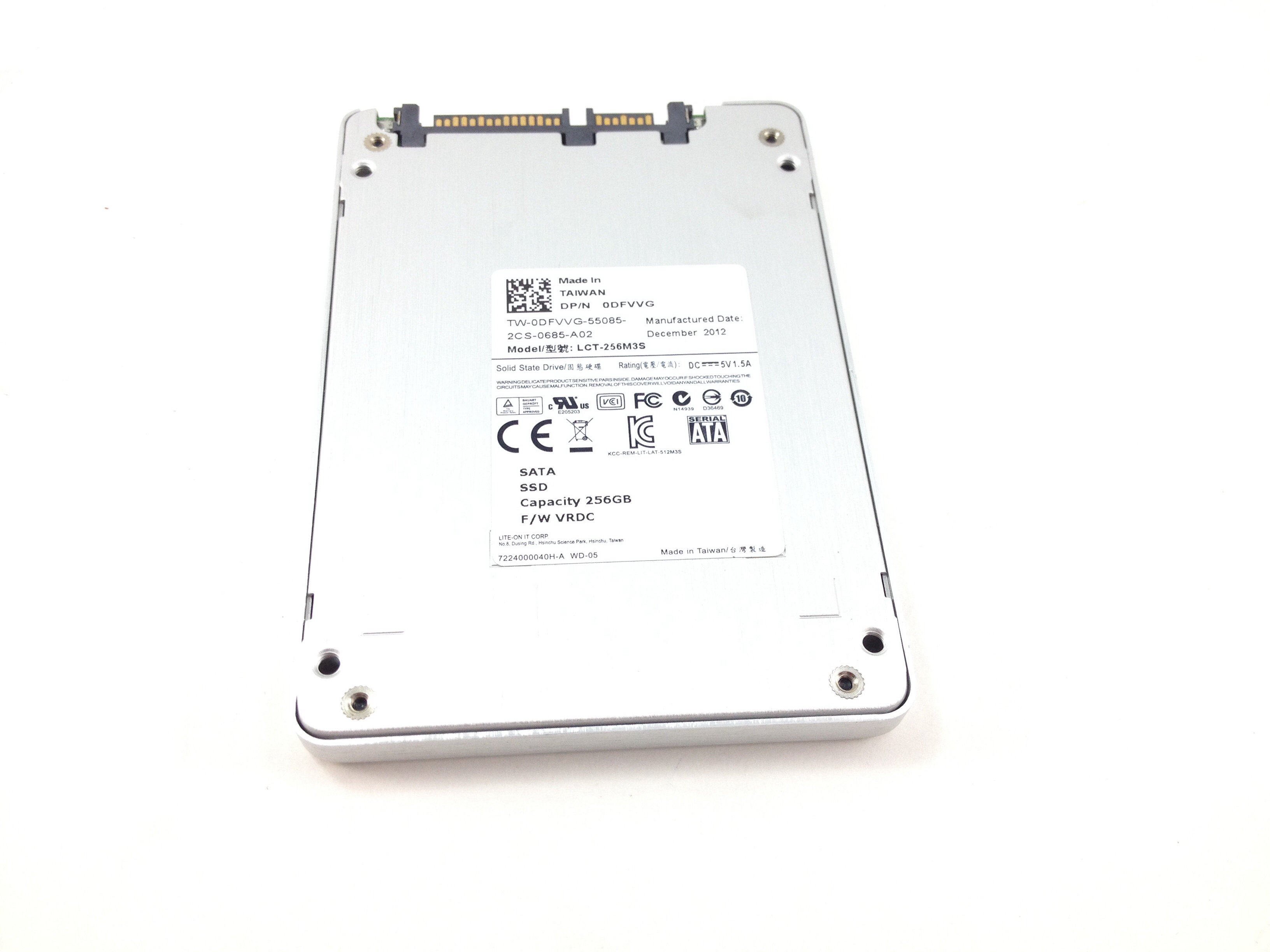 DFVVG DELL LITEON IT 256GB 6GBPS SATA 2.5'' SOLID STATE DRIVE (DFVVG)