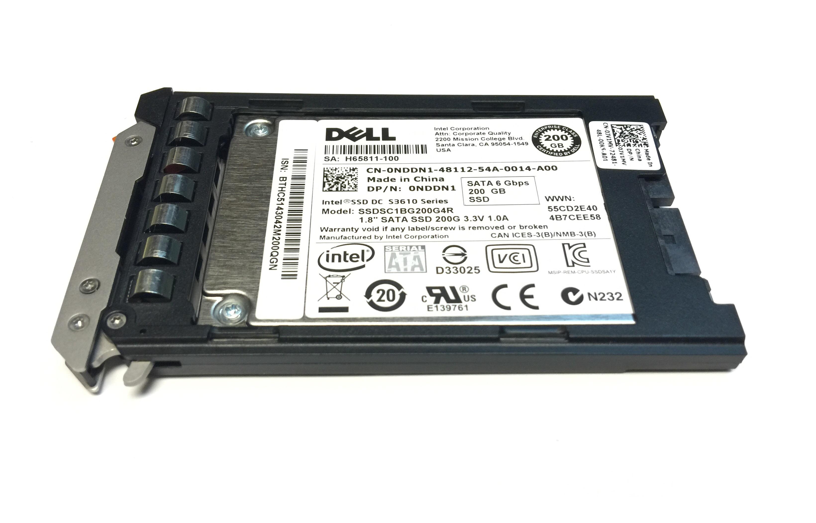 Dell  Intel S3610 SSD 200GB 6Gbps SATA 1.8'' MLC Solid State Drive SSD (NDDN1)