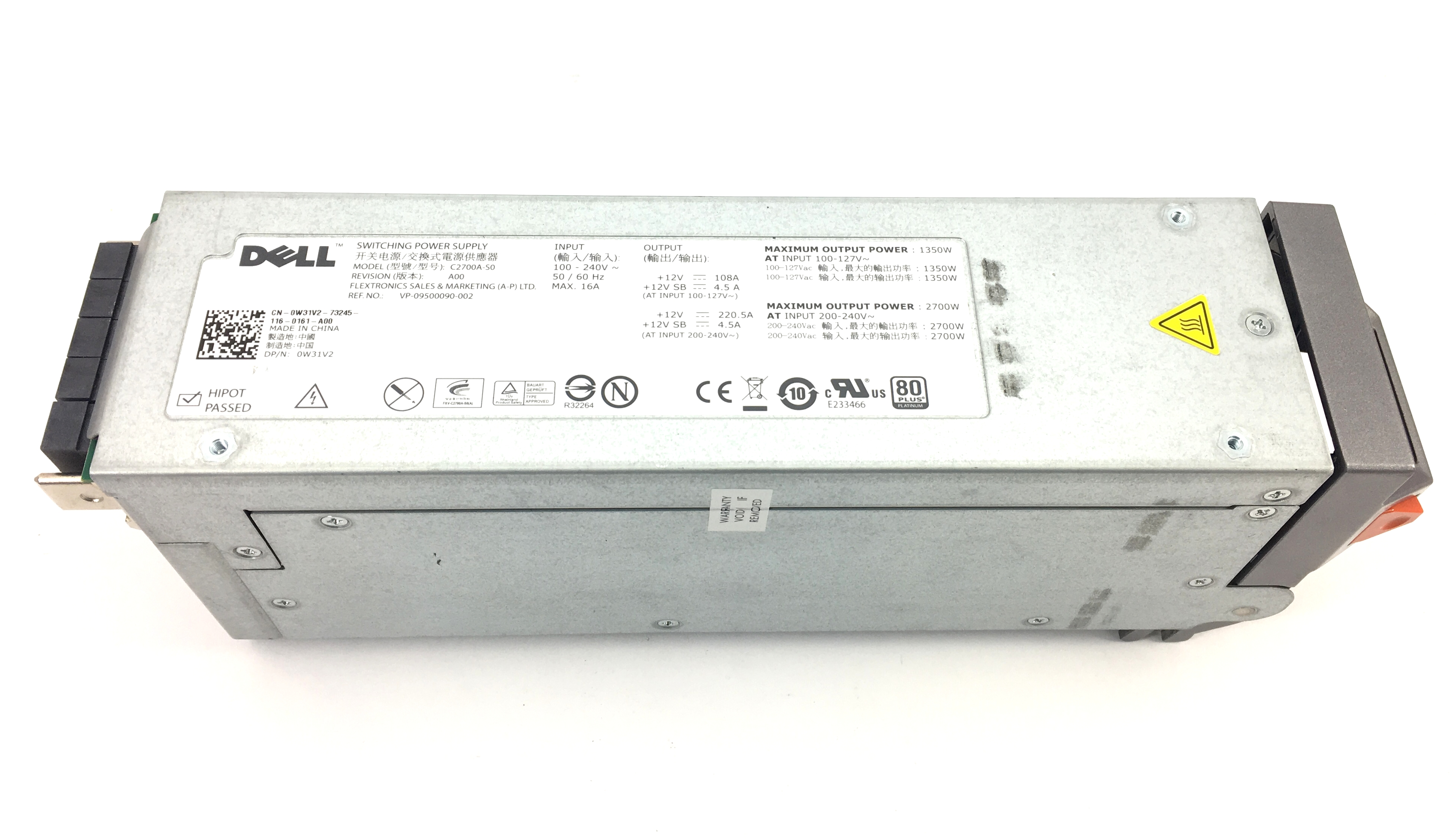 Dell PowerEdge M1000E 2700W Switching Power Supply (C2700A-S0)