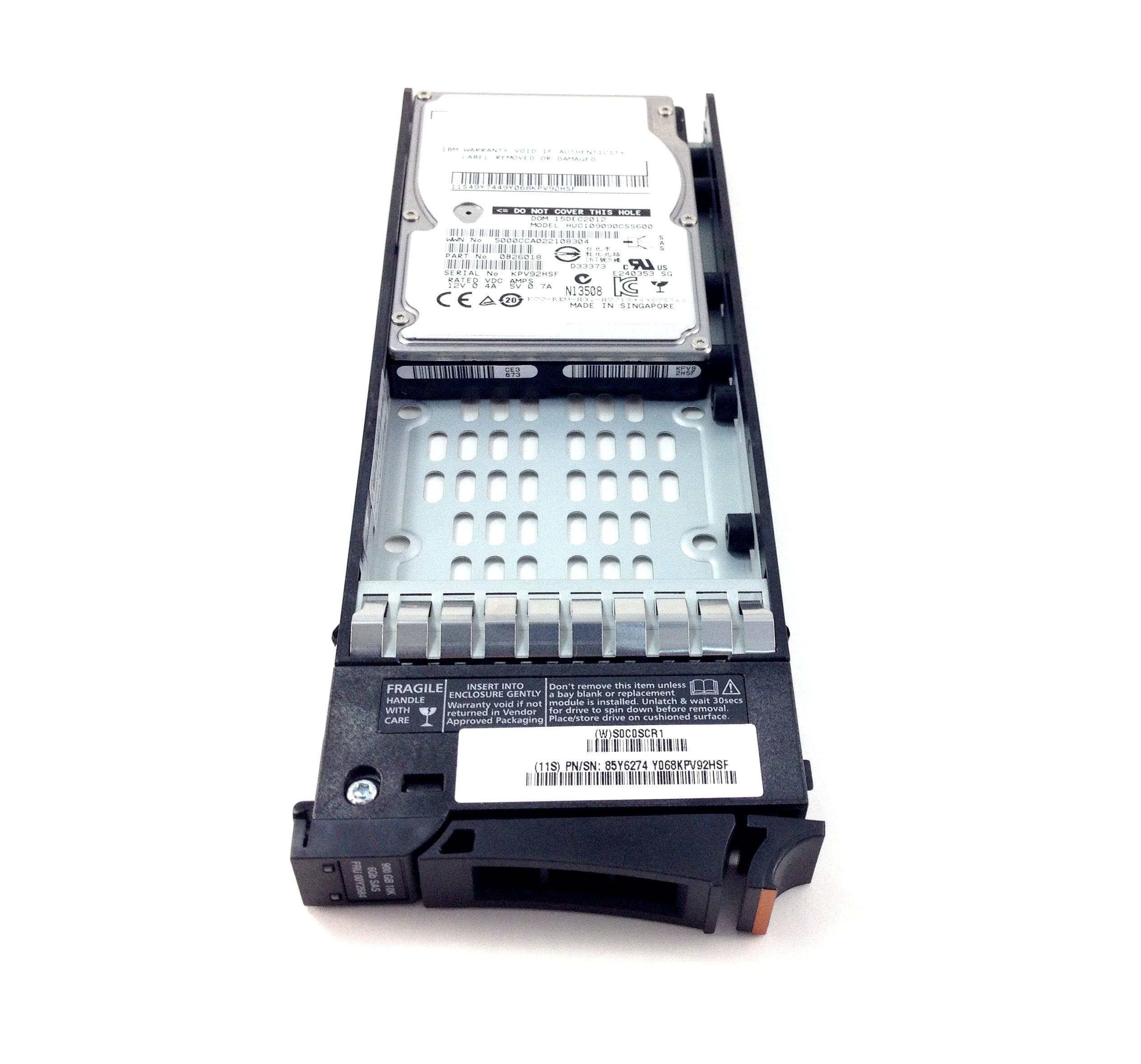 IBM 900GB 10K 6GBPS SAS 2.5'' HARD DRIVE W/ TRAY (00Y2684)