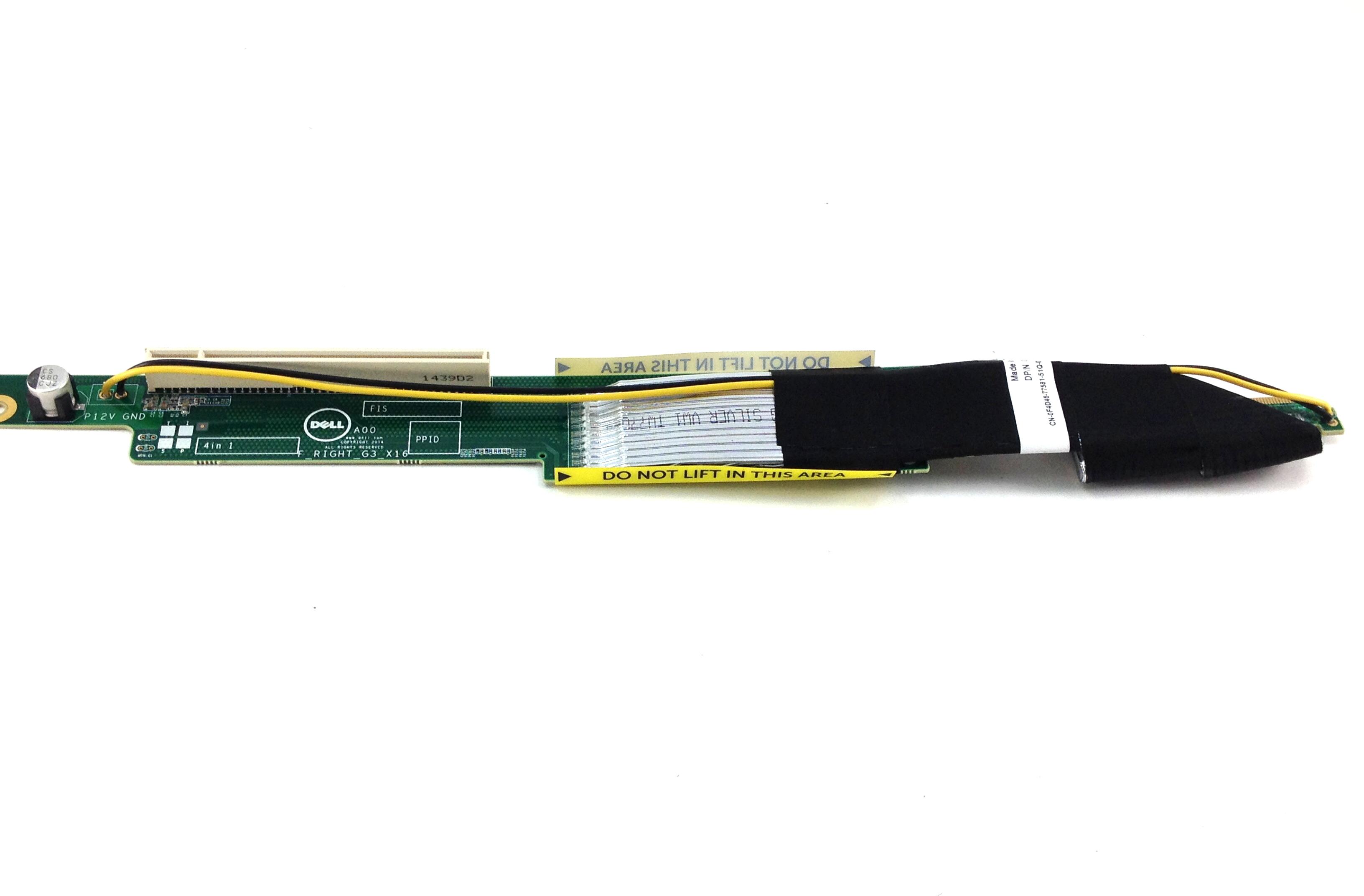 Dell PowerEdge C4130 PCI-E Riser Card With Gpu Cable Bay 4/2 (0F4D46)