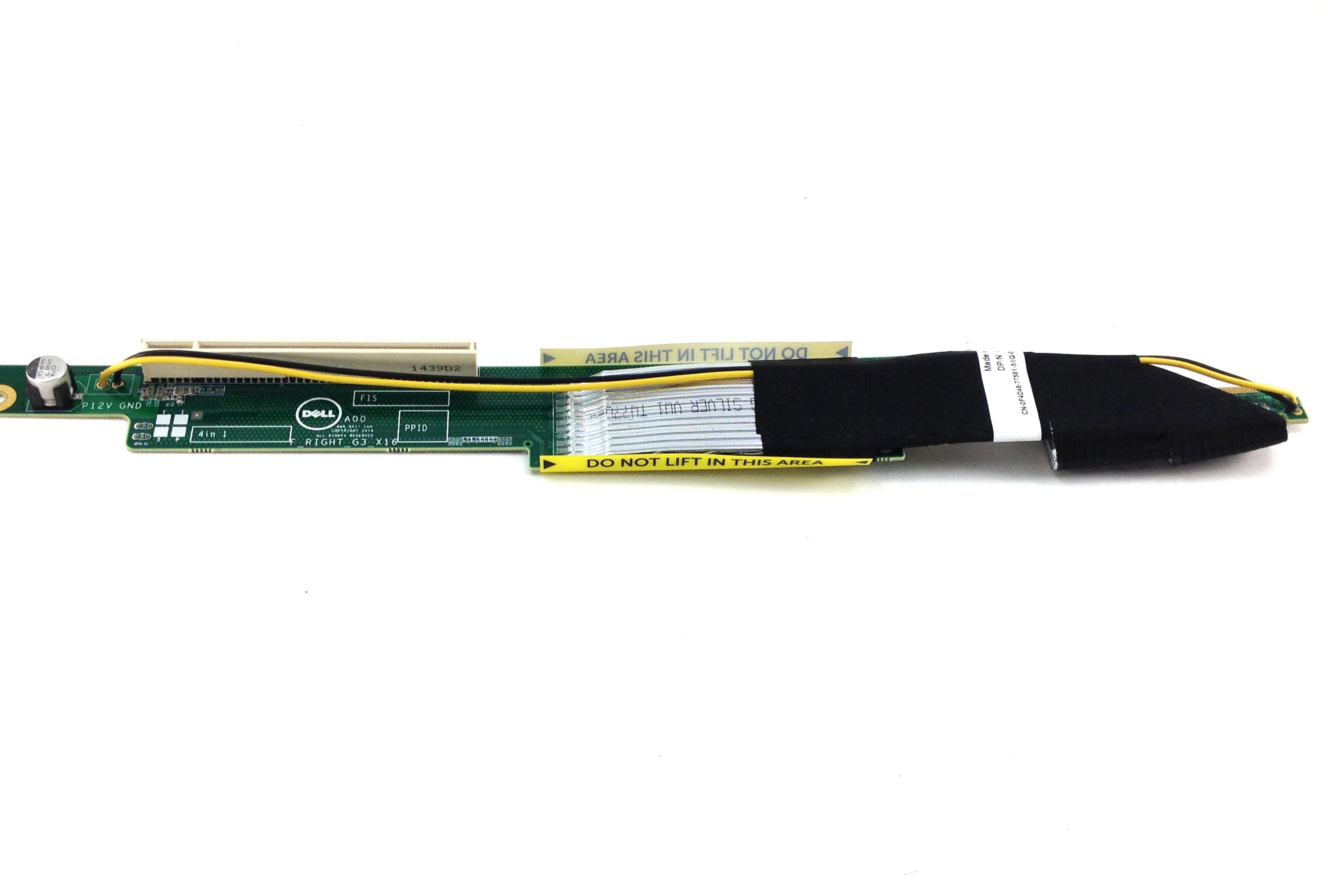 Dell PowerEdge C4130 PCI-E Riser Card With Gpu Cable Bay 3/1 (XJ43P)