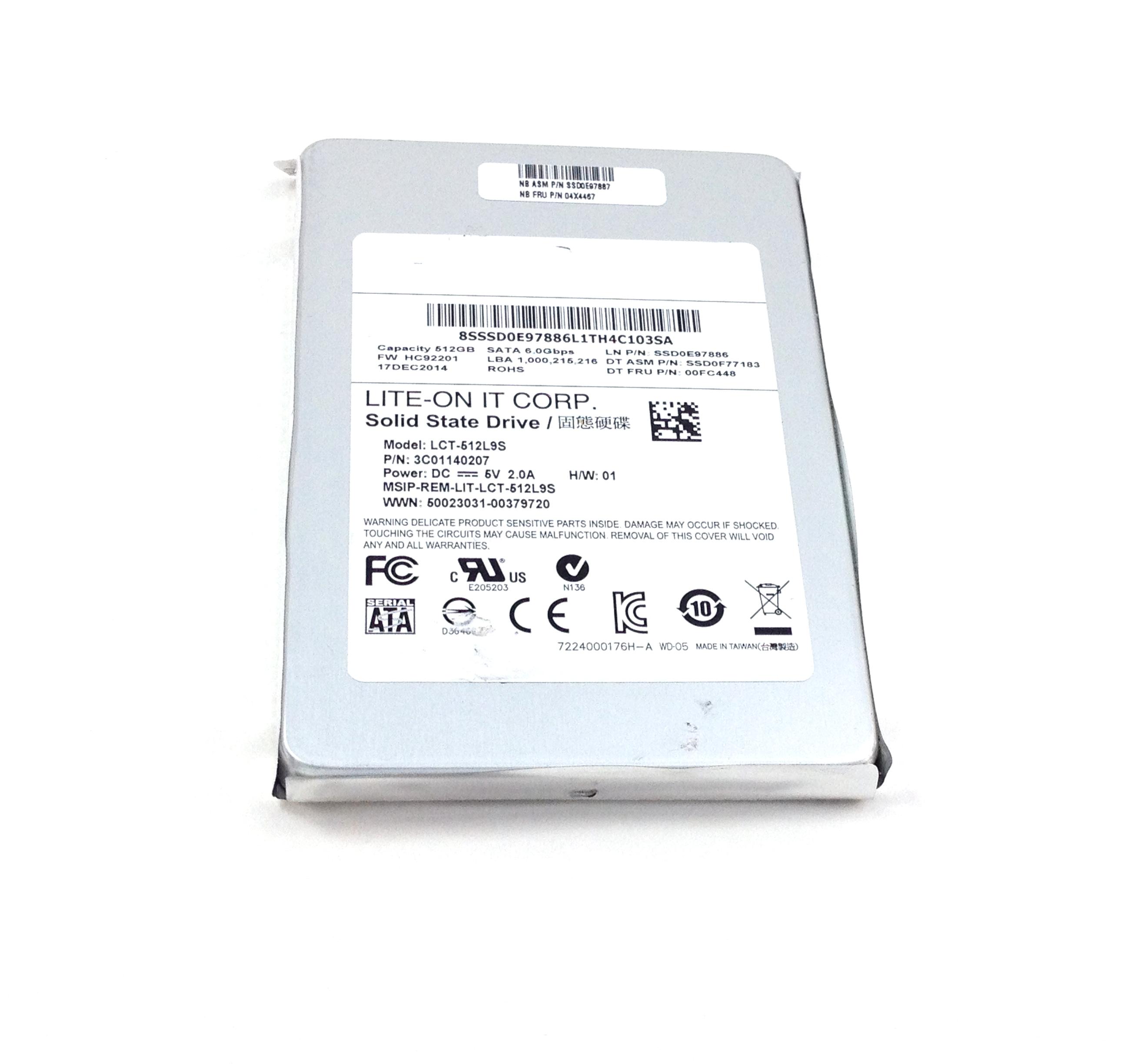 IBM LENOVO 512GB 6GBPS SATA 2.5'' SOLID STATE DRIVE (04X4467)
