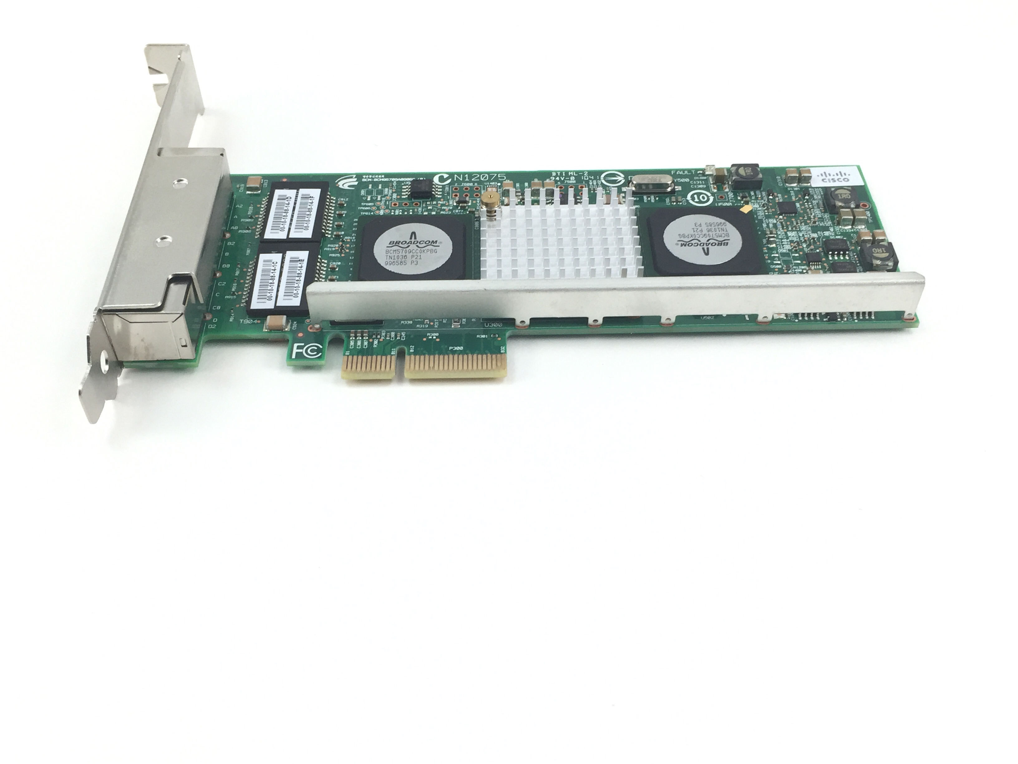 Cisco Broadcom Gigabit Ethernet PCI-E Network Card 4 Port (N12075)