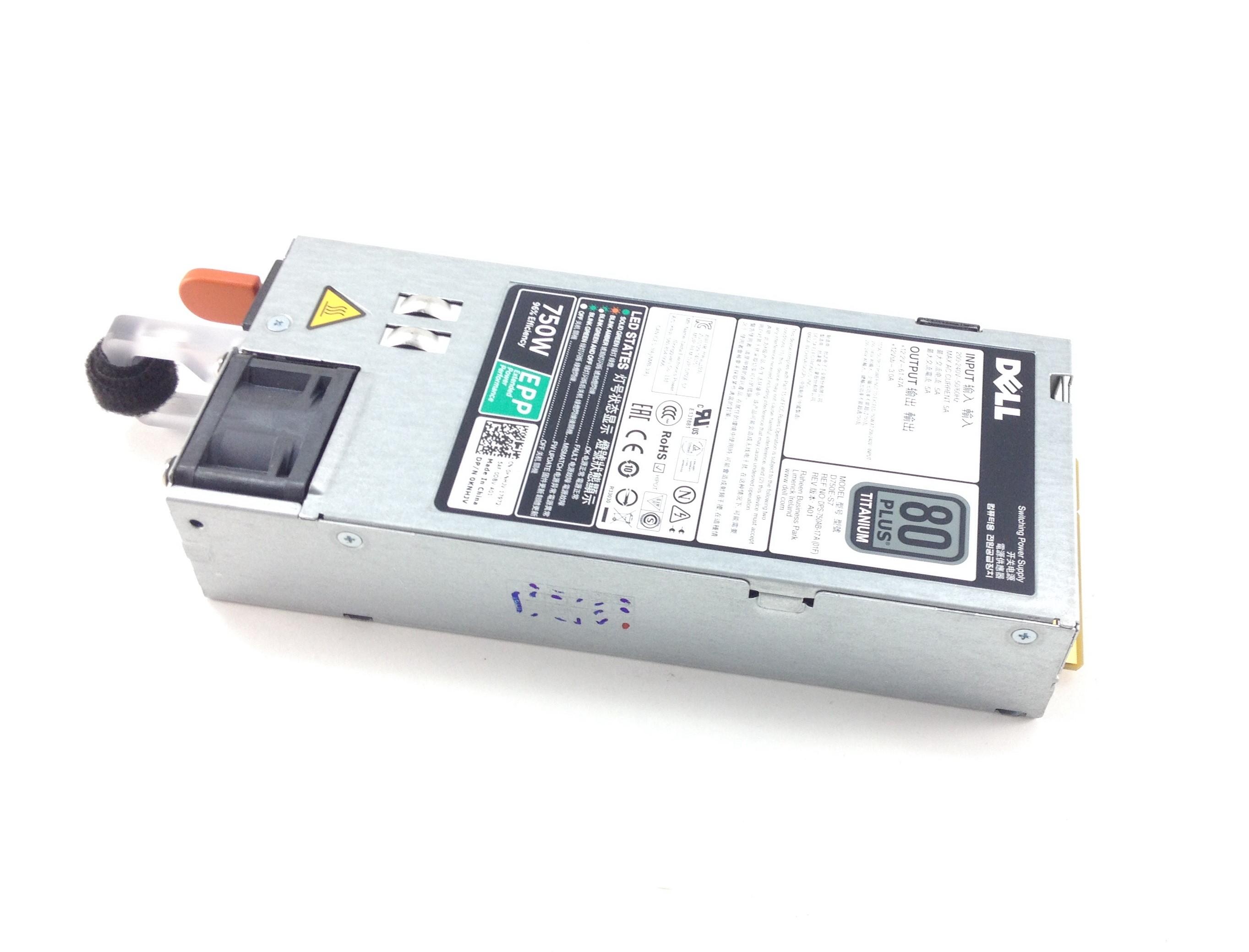KNHJV Dell PowerEdge R630/R730 80 Plus Titanium 750W Power Supply (KNHJV)