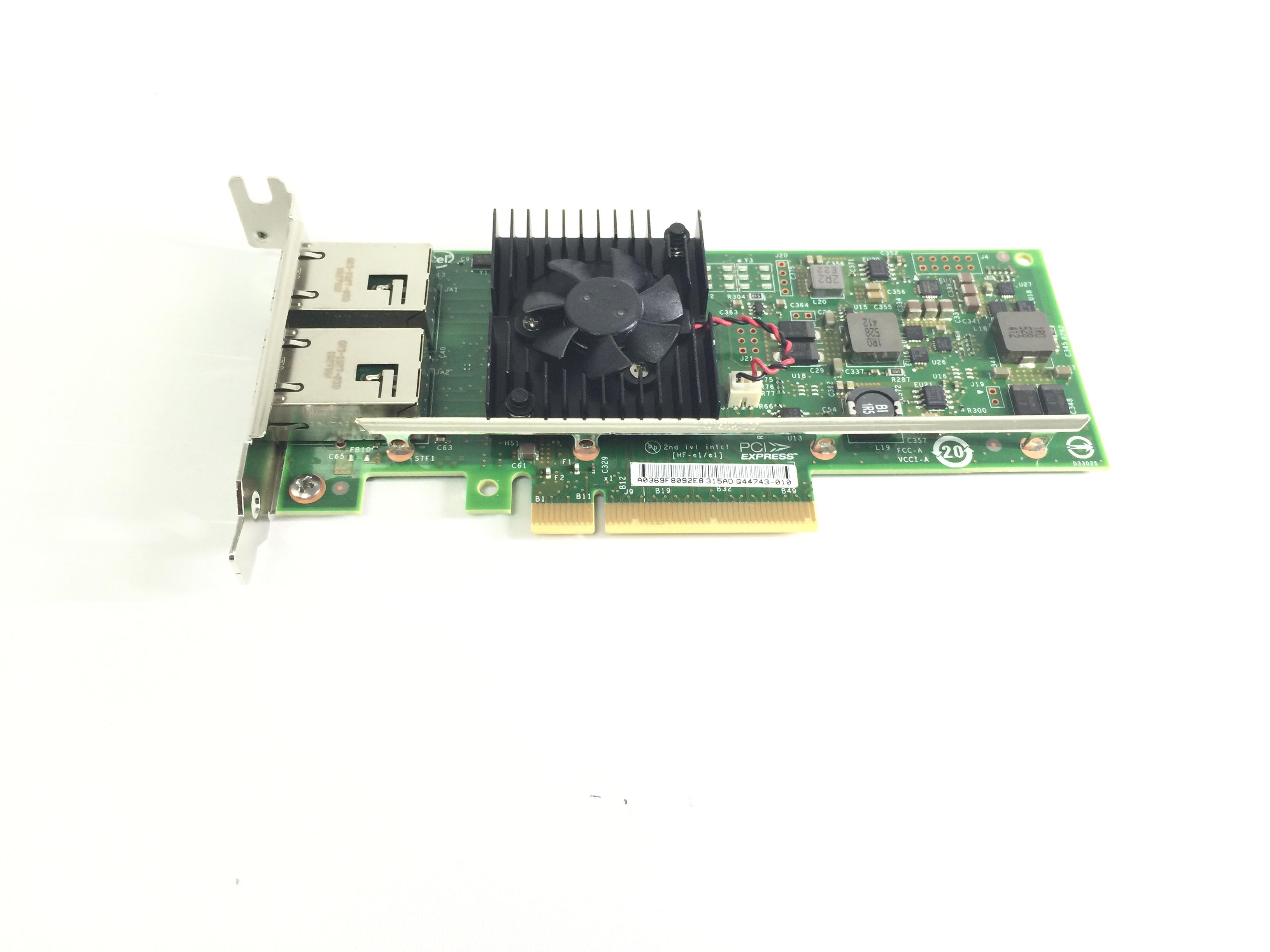 Dell Intel X540-T2 Dual Port 2x 10GbE RJ-45 PCIe NIC Network Adapter (3DFV8)