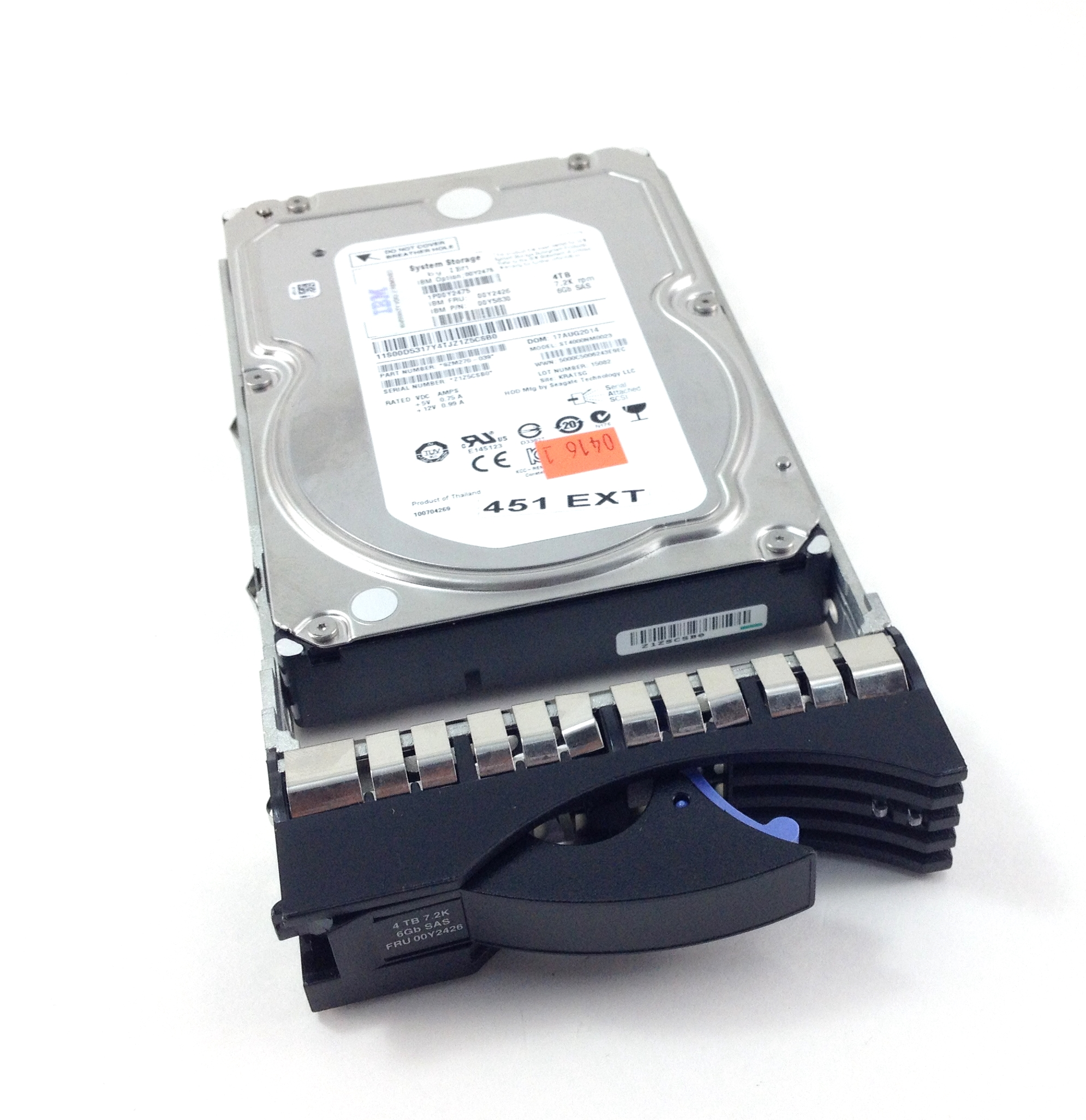 IBM Lenovo 4TB 7.2K 6Gbps 3.5'' SAS Hard Drive With Tray (00Y2426)
