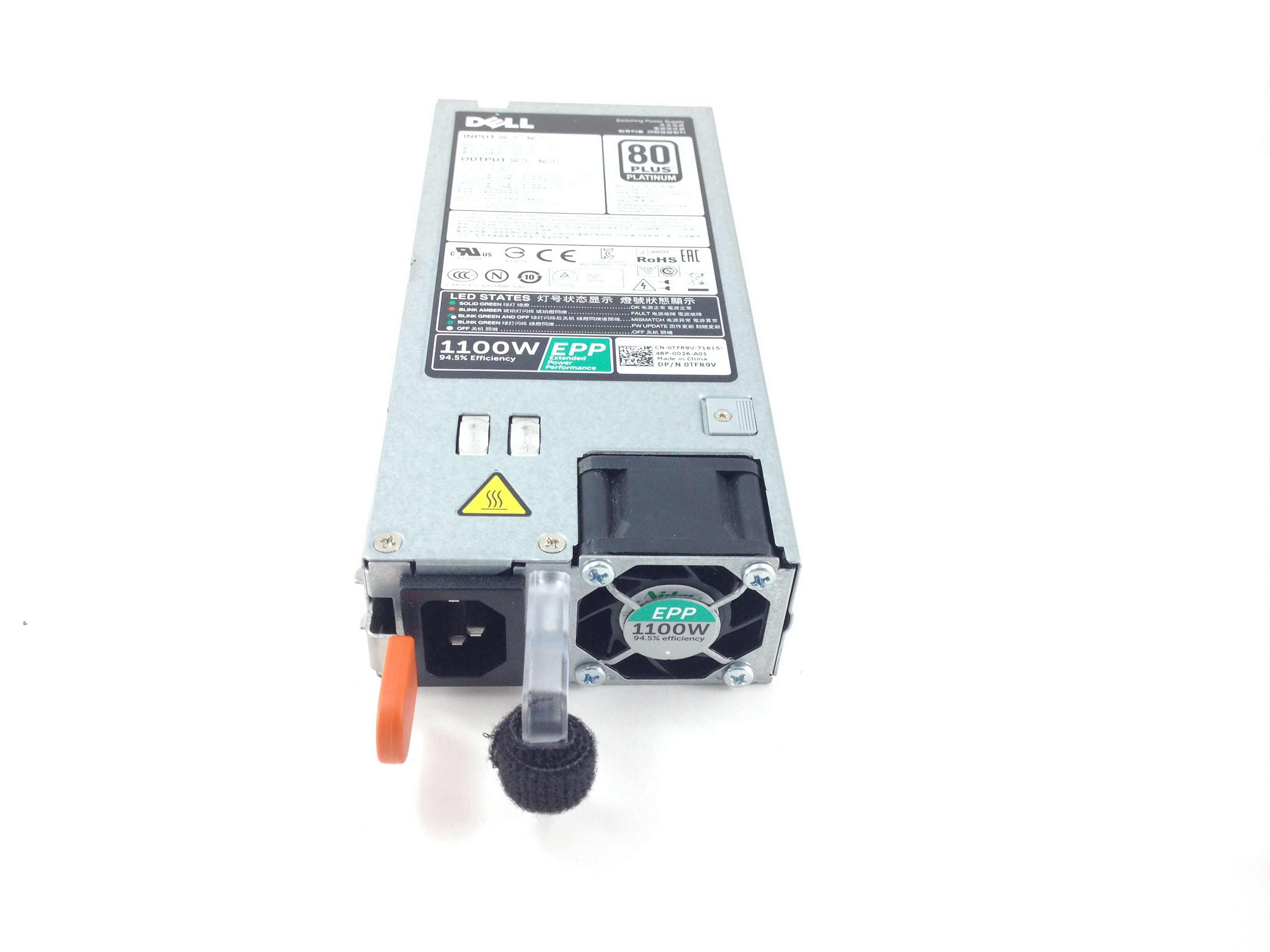 DELL POWEREDGE R730XD T630 R7910 1100W 80 PLUS POWER SUPPLY (0TFR9V)