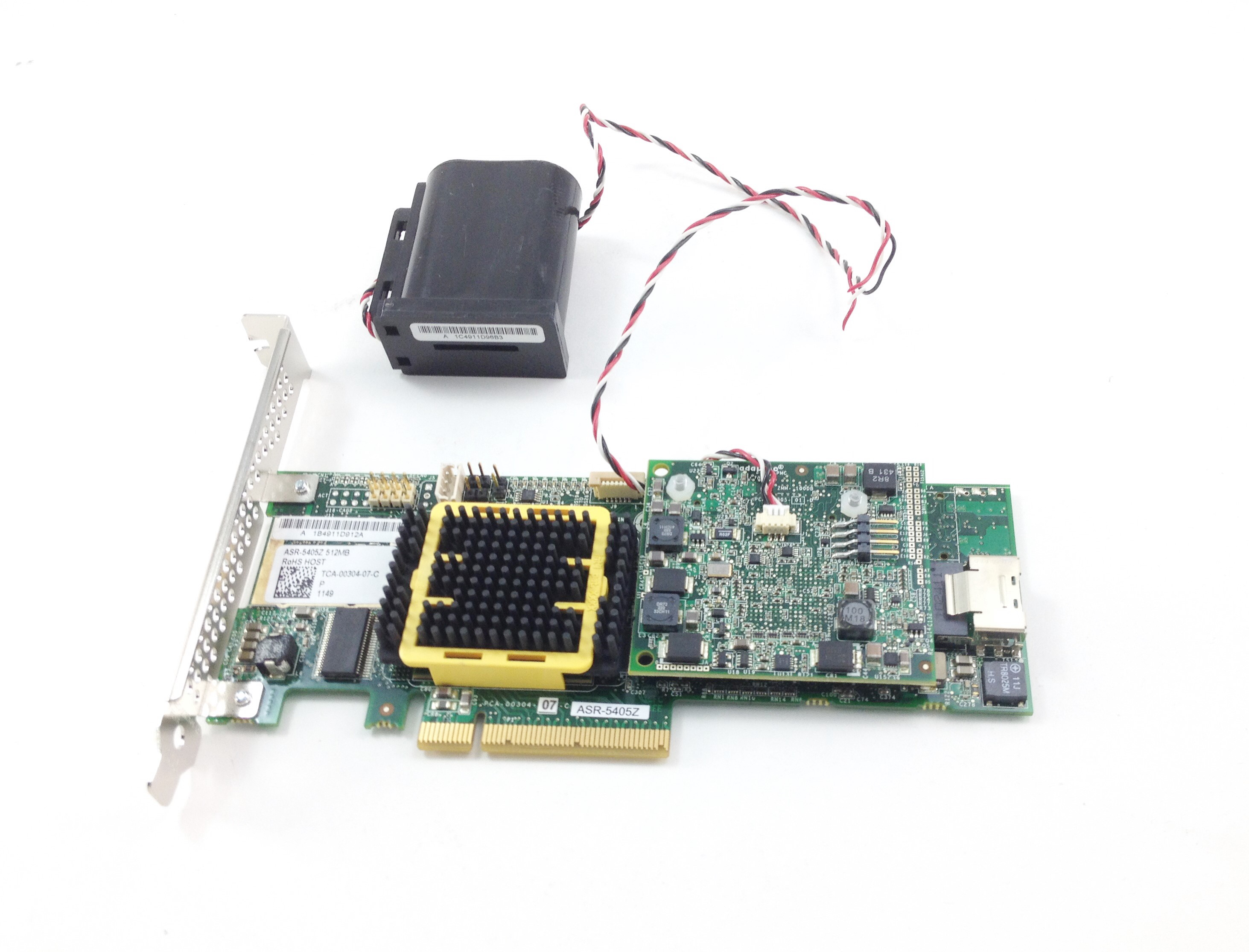 Adaptec 3Gbps 512MB 1-Mini SAS Connector 8-Lane PCI-E Raid Controller (ASR-5405Z)