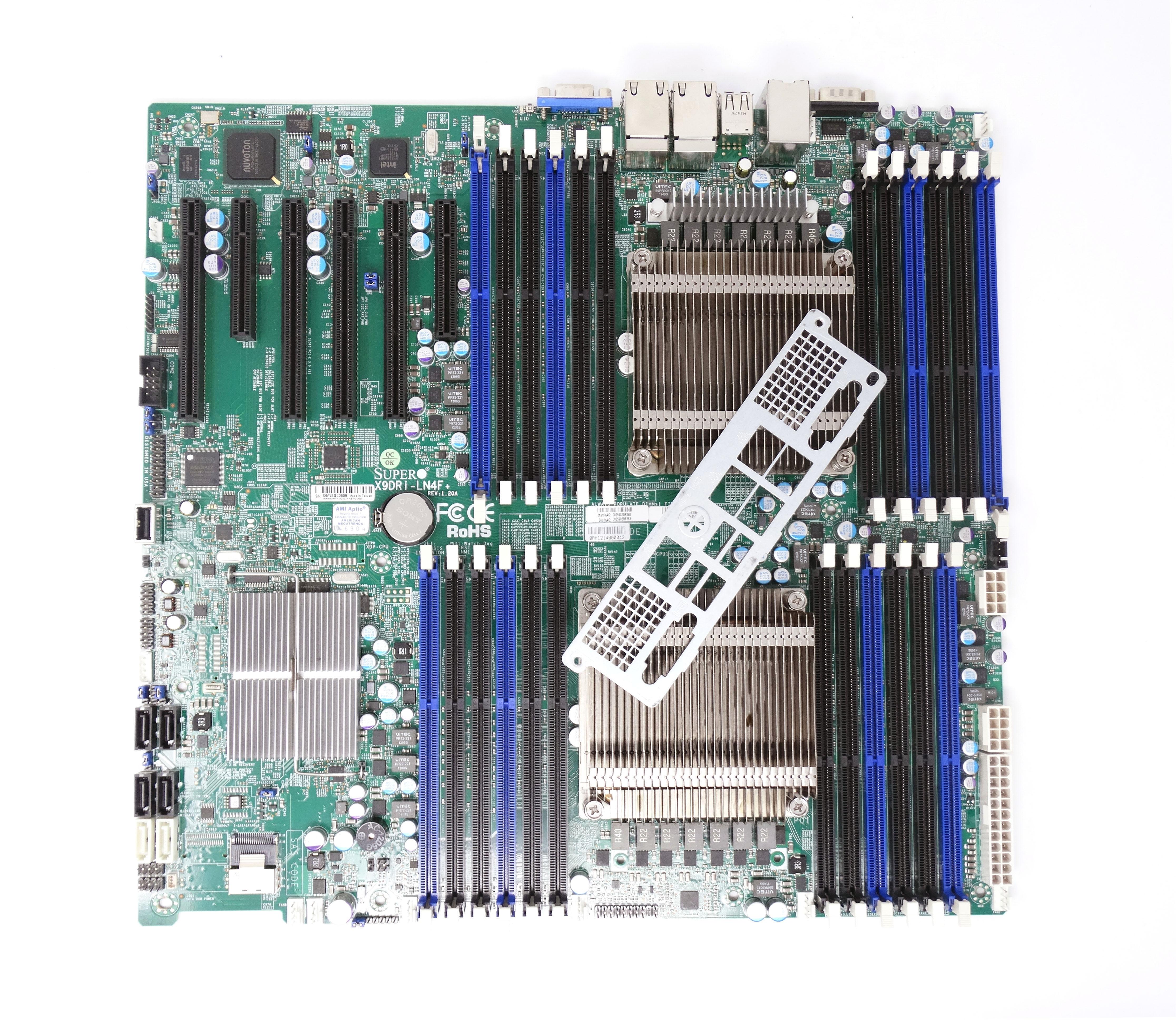 Supermicro Dual Intel Socket LGA2011 Rev 1.10 System Board with I/O Plate (X9DRI-LN4F)