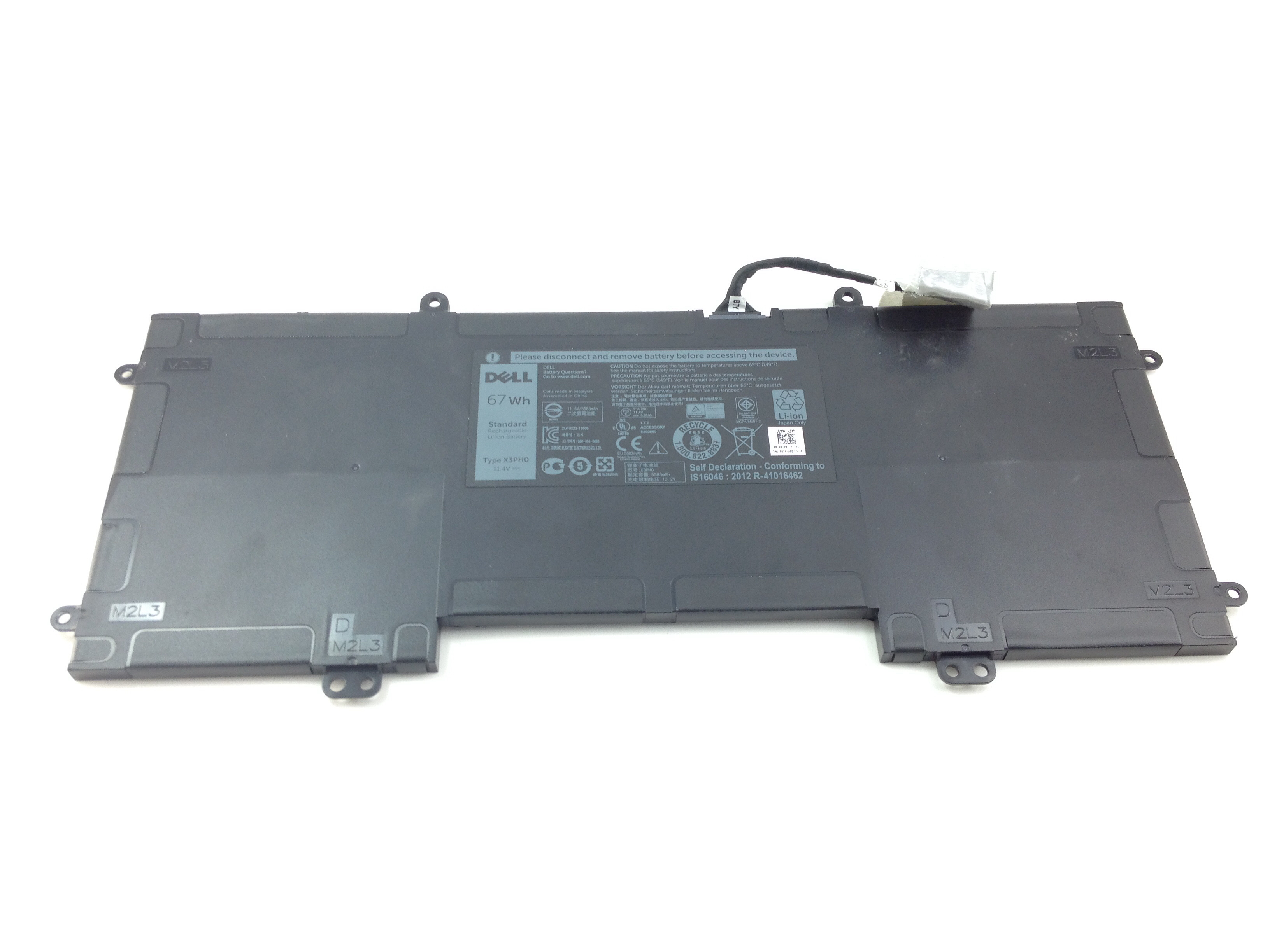 Dell X3Ph0 67Wh 6Cell Standard Rechargeable Li-Ion Battery (092YR1)