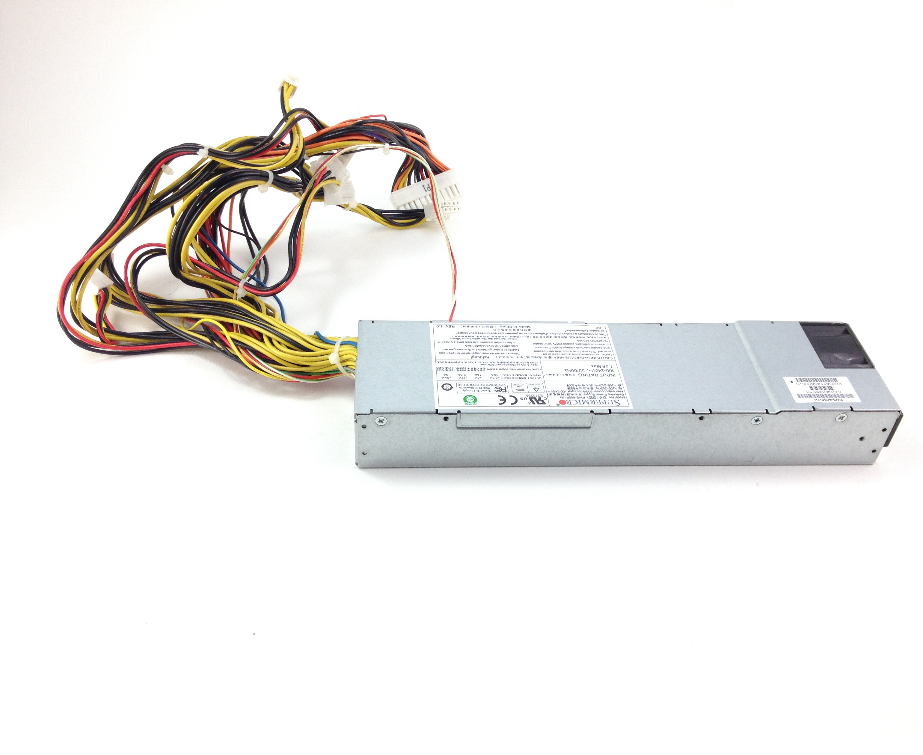 SUPERMICRO 600W 1U 80PLUS PLATINUM POWER SUPPLY (PWS-605P-1H)