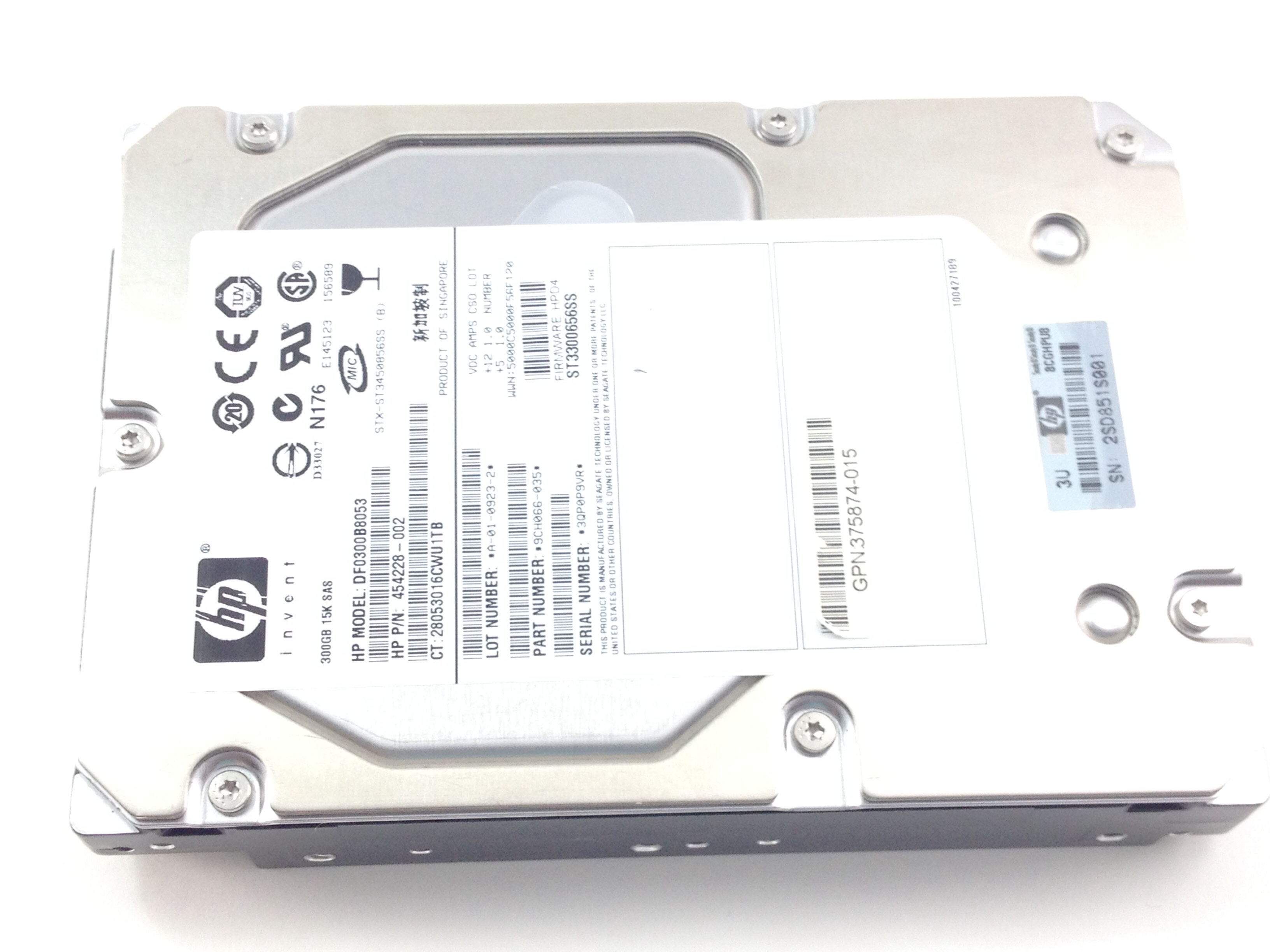 HP 300GB 15K SAS 3.5'' SAS Hard Drive (454228-002)