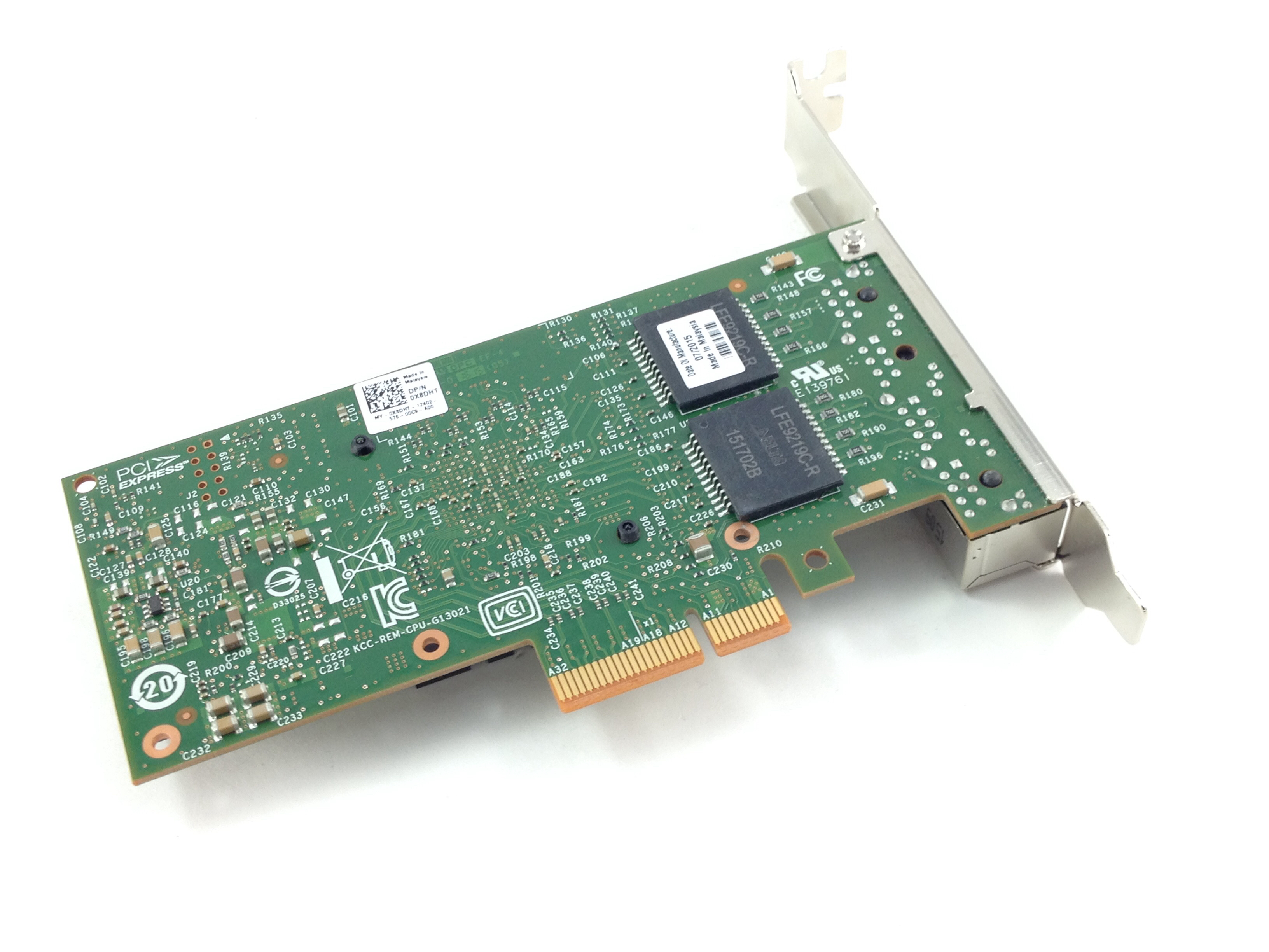 DELL INTEL NETWORK CARD I350-T4 1GBE PCI-E ETHERNET SERVER ADAPTER (0X8DHT)
