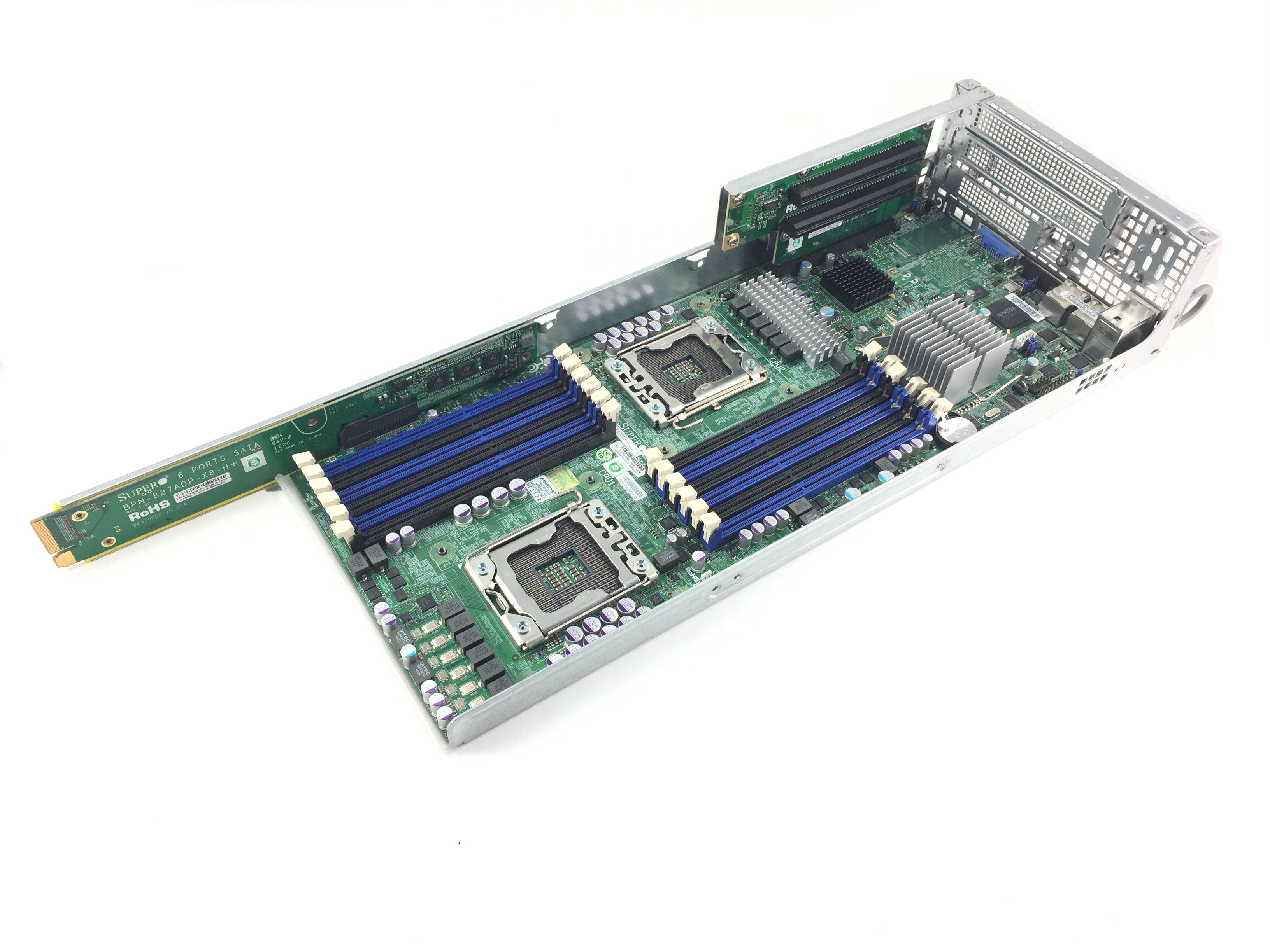 SUPERMICRO 2U NODE CSE-217HQ-R1400B CSE-827H-R1200B SYSTEM BOARD (X8DTT-HF)