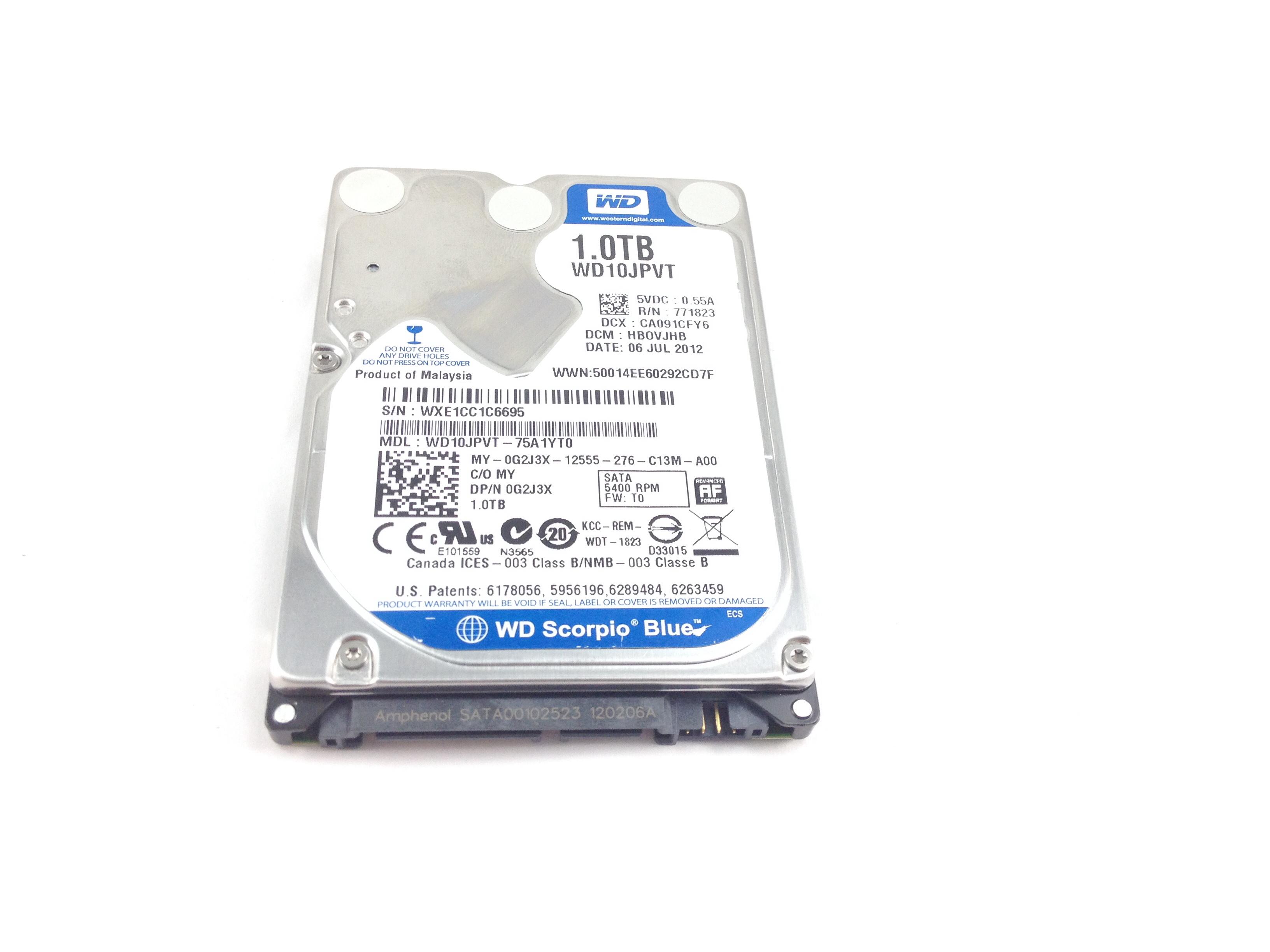 Dell Western Digital 1TB 5.4K SATA 2.5'' Hard Drive (0G2J3X)