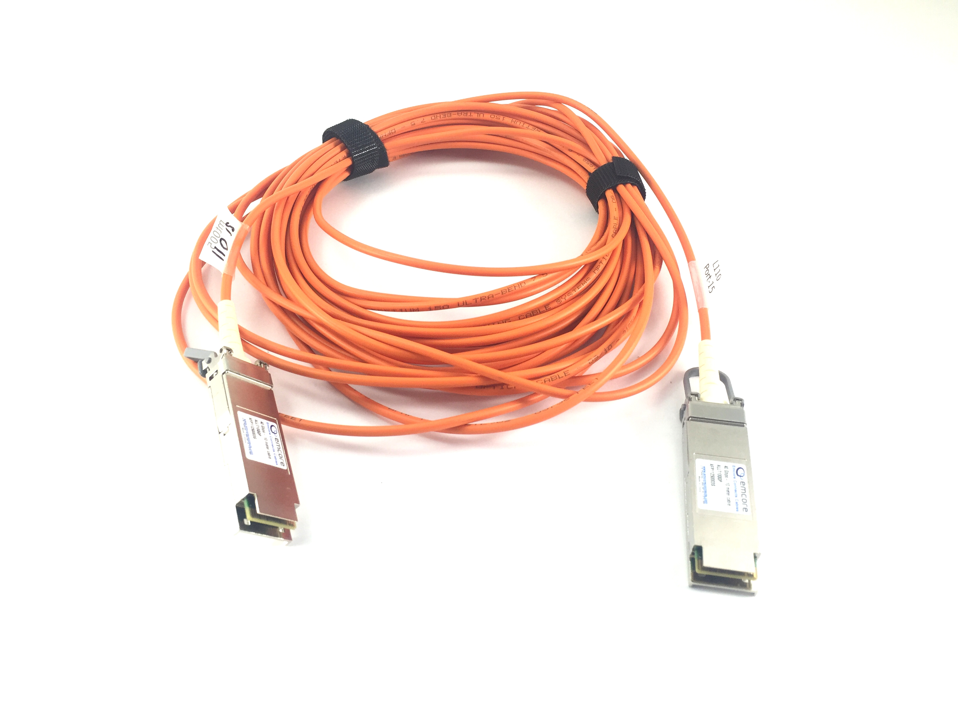 EMCore 40Gbps 10M Long Infiniband Qdr QSFP-QSFP Optical Cable (ALLT10QQP)