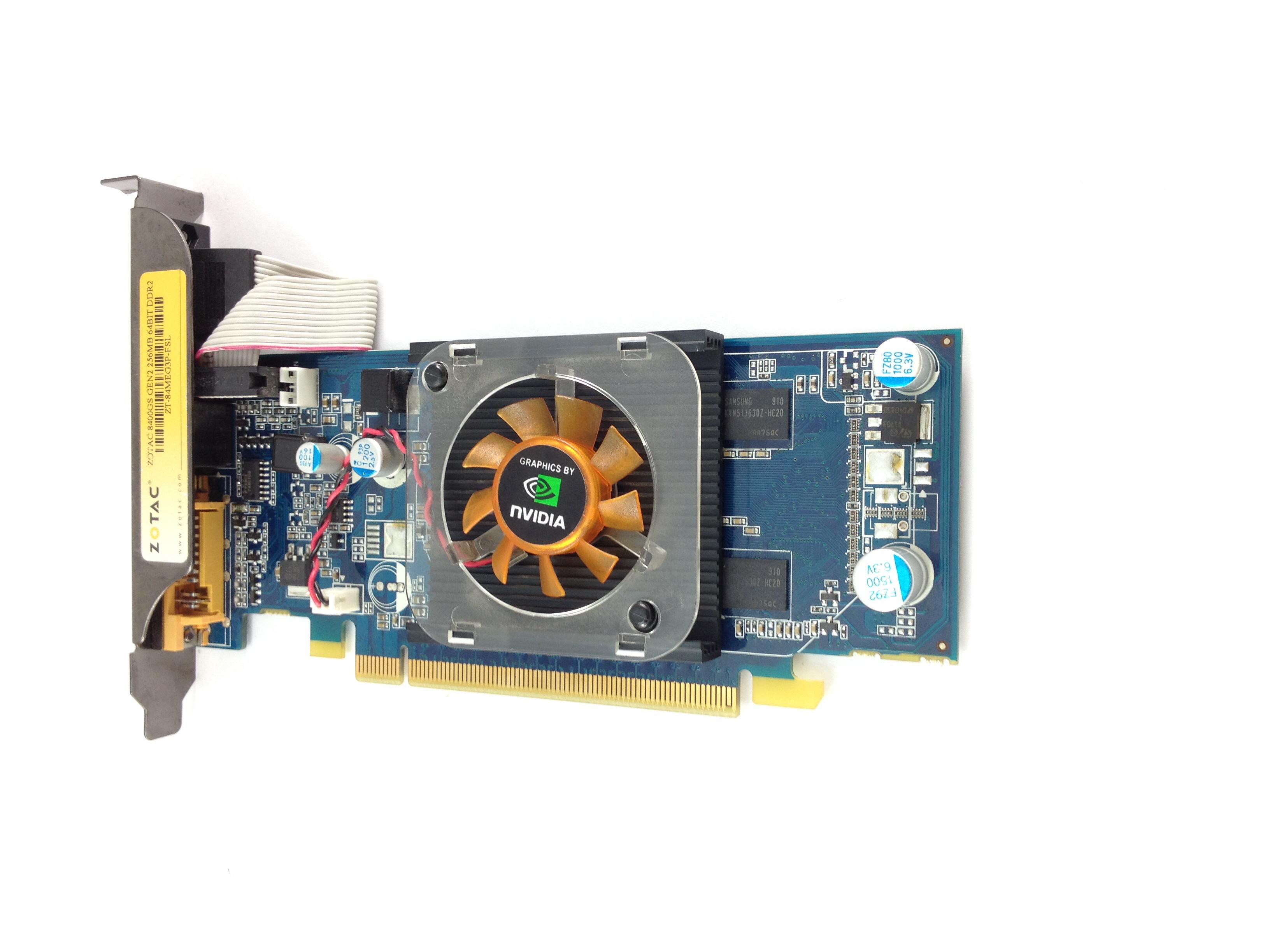 Zotac GeForce 8400 Gs 256MB 64-Bit DDR2 PCI-E Graphic Card (ZT-84MEG3P-FSL)