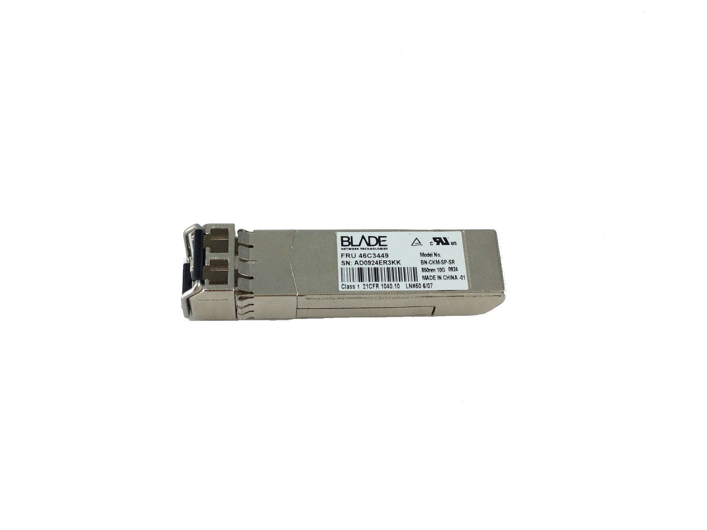 IBM Blade Bn-Ckm-Sp-Sr 80Nm 10GB SFP+ Transceiver (46C3449)