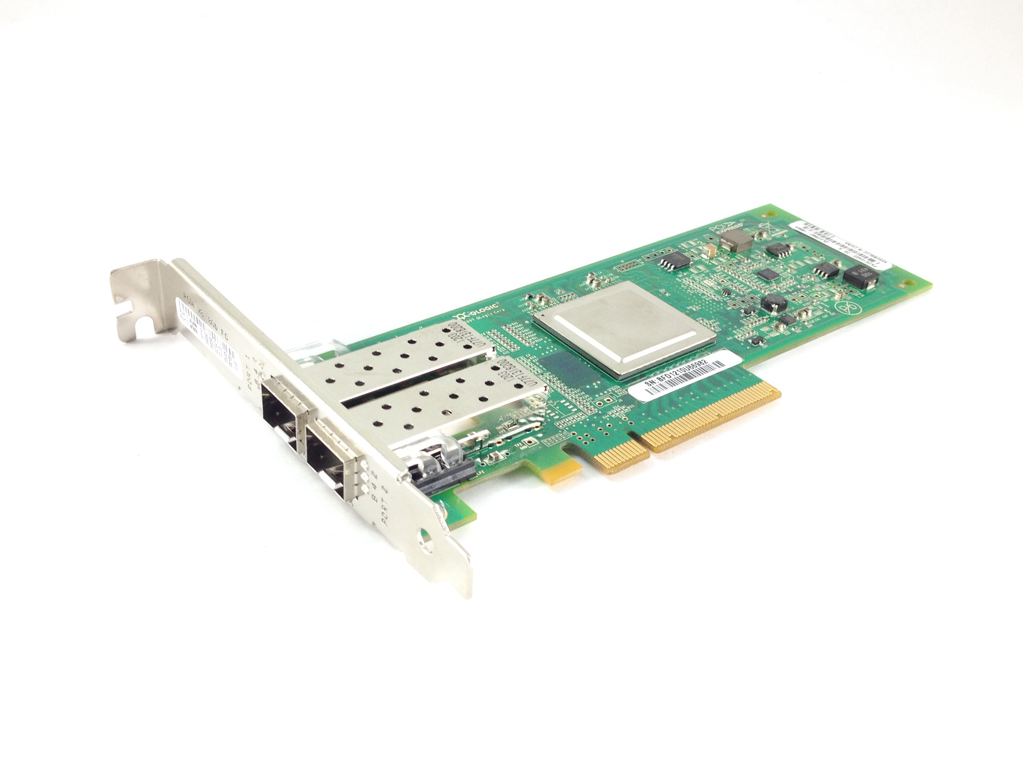 IBM QLOGIC QLE2562-IBMX 8GB DUAL-PORT PCI-E FC HBA (42D0516)