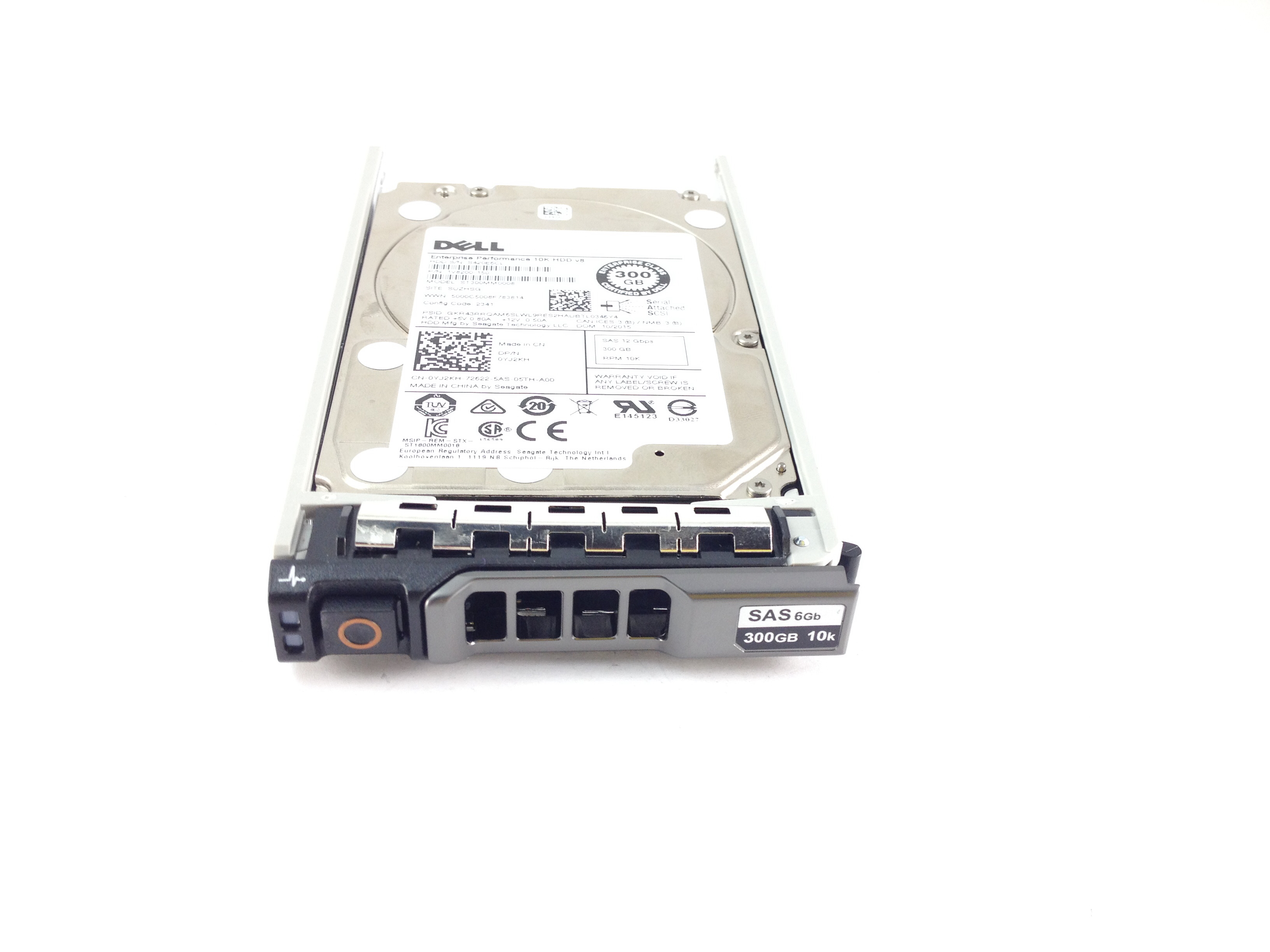 Dell 300GB 10K 12Gbps SAS 2.5'' Hard Drive With PowerEdge Tray (YJ2KH)