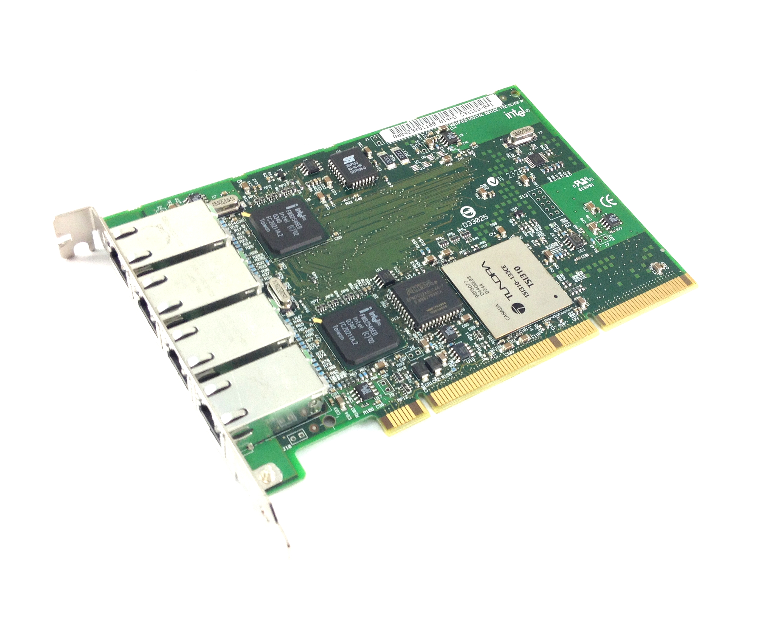 Dell Intel Pro/1000 Mt Nic Quad Port 1Gbps Pci-X Gigabit Ethernet Card (T2774)