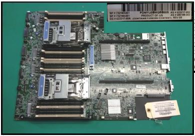 HP Proliant DL380P G8 V2 System Board (732143-001)