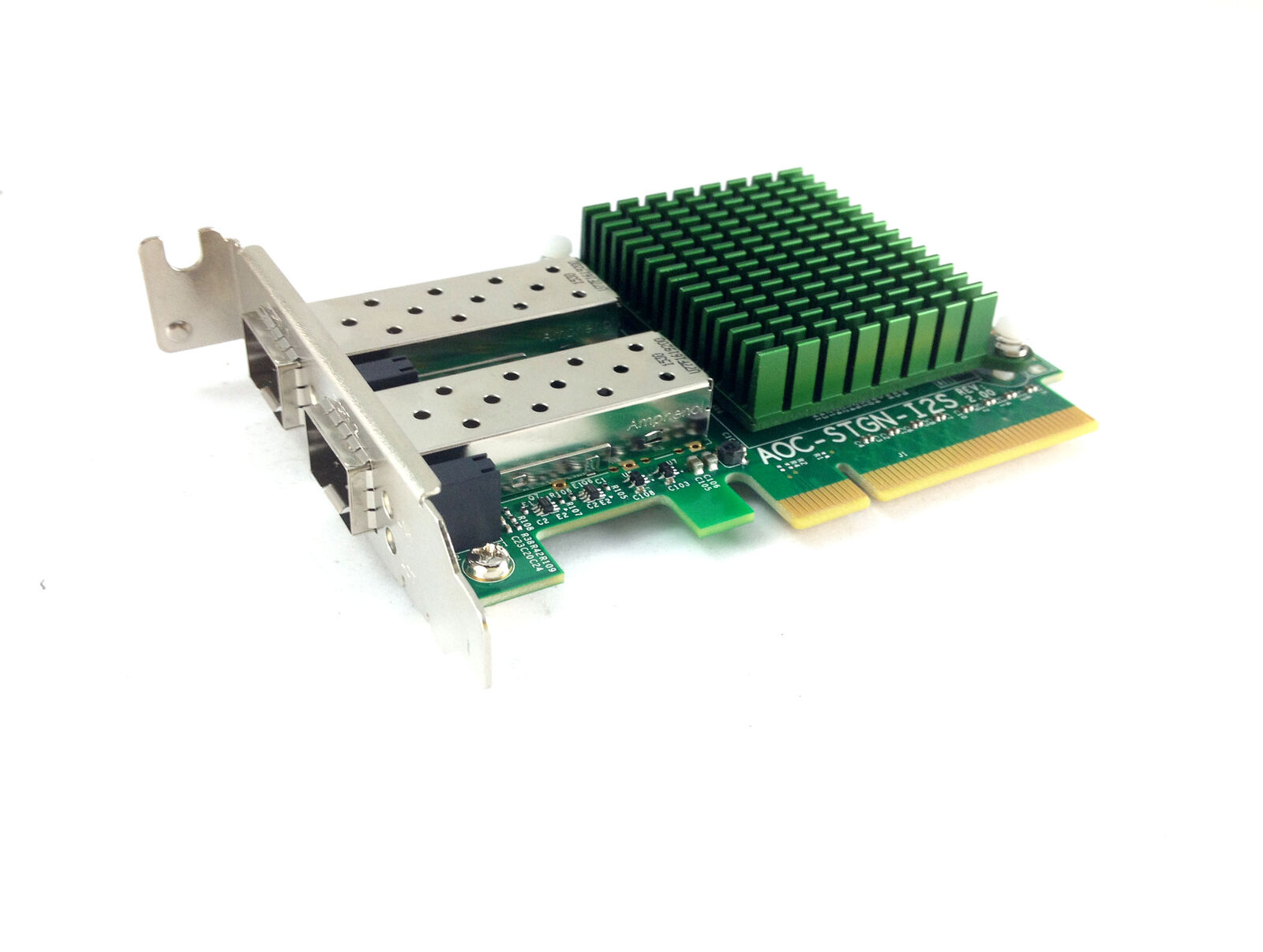 Supermicro Rev 2.0 10GbE Dual Port SFP+ Network Adapter Card Intel 82599 (AOC-STGN-I2S)