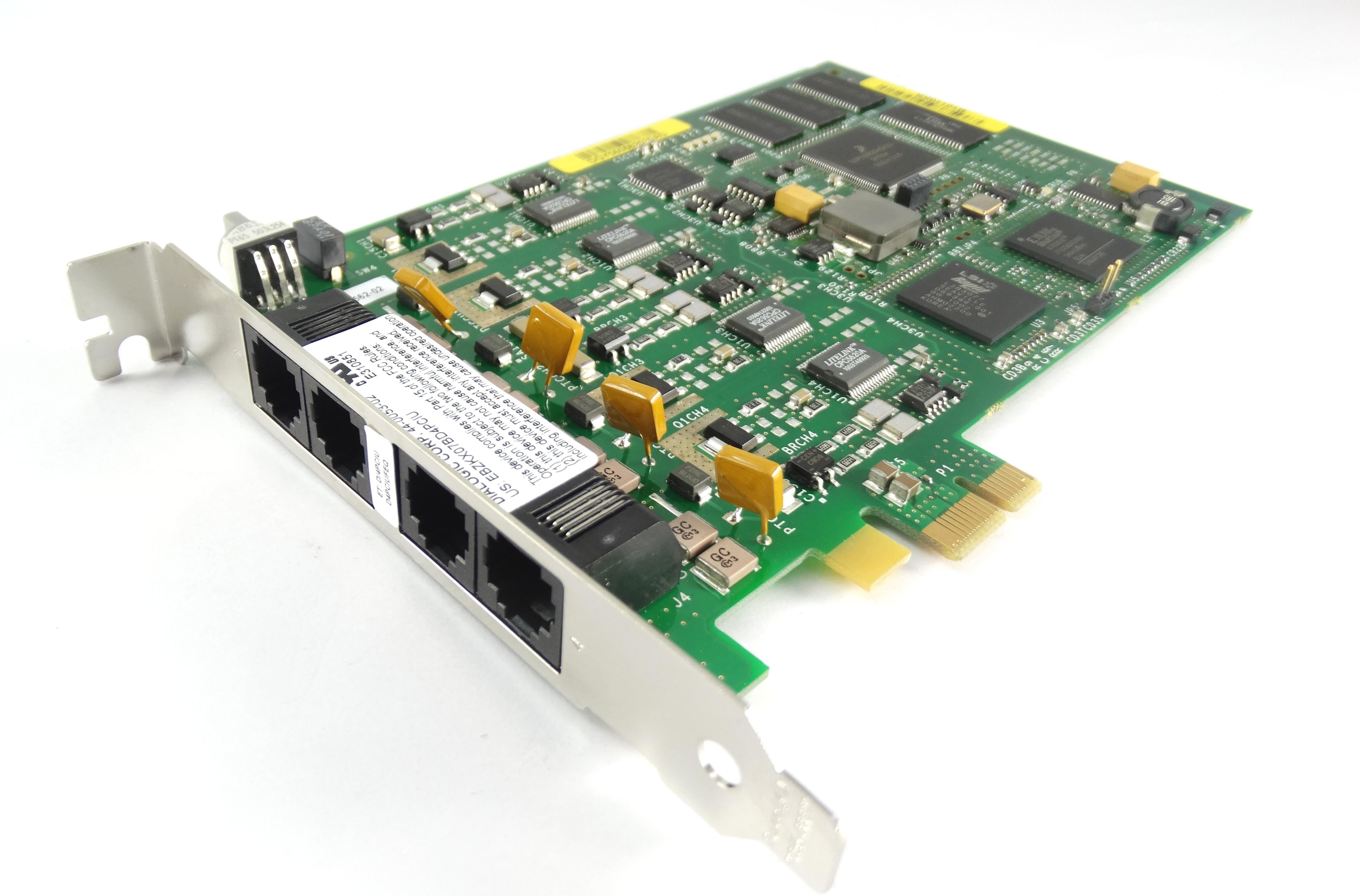 Dialogic A03-0017Jpa D4Pciufeq 4-Port Voice Network InterfAce Card (44-0053-02)
