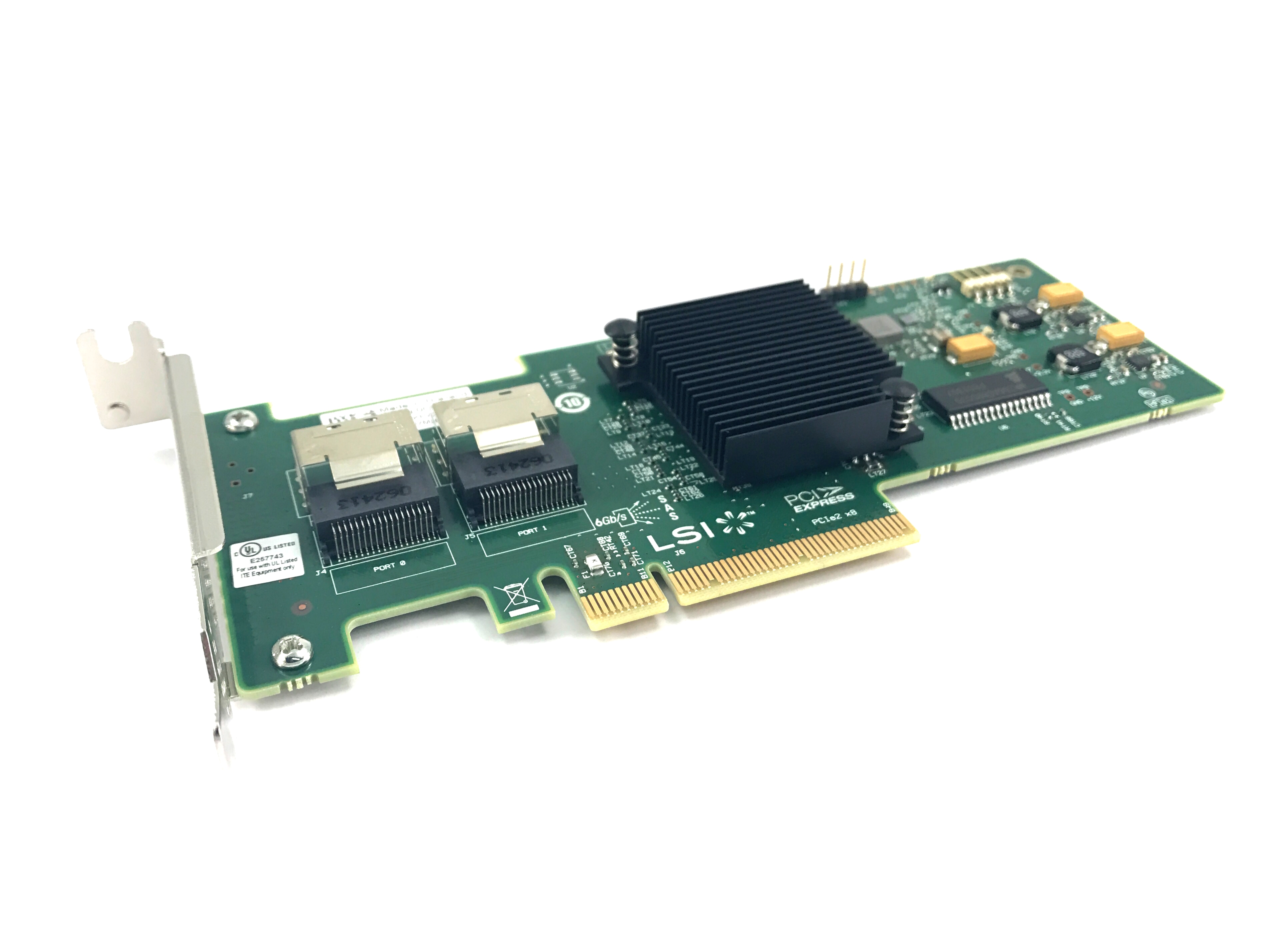 Dell LSI SAS 9210-8I 6Gbps Dual Port Host Bus Adapter (W8J8X)