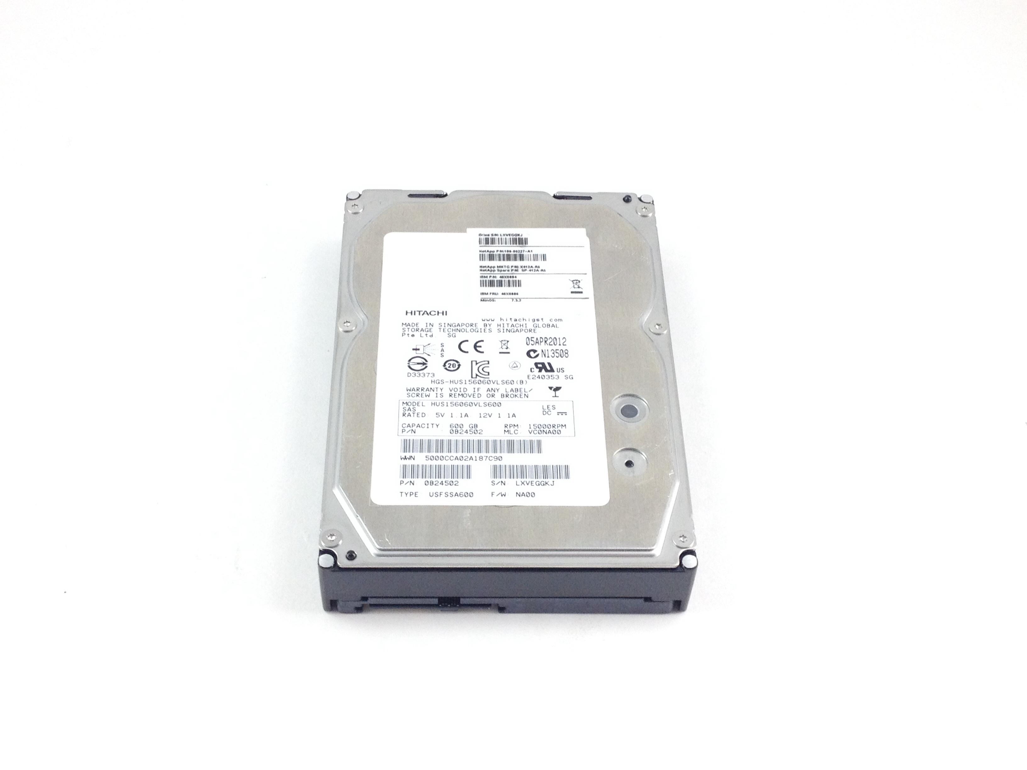 IBM Netapp 600GB 15K SAS 3.5'' Hard Drive (46X0886)