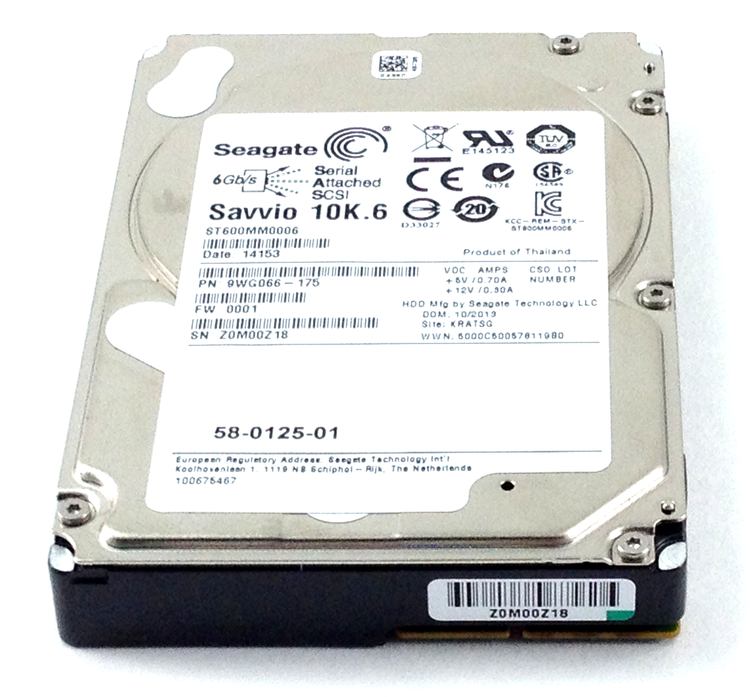 Seagate 600GB 10K 6Gbps SAS  2.5''  Hard Drive (ST600MM0006)