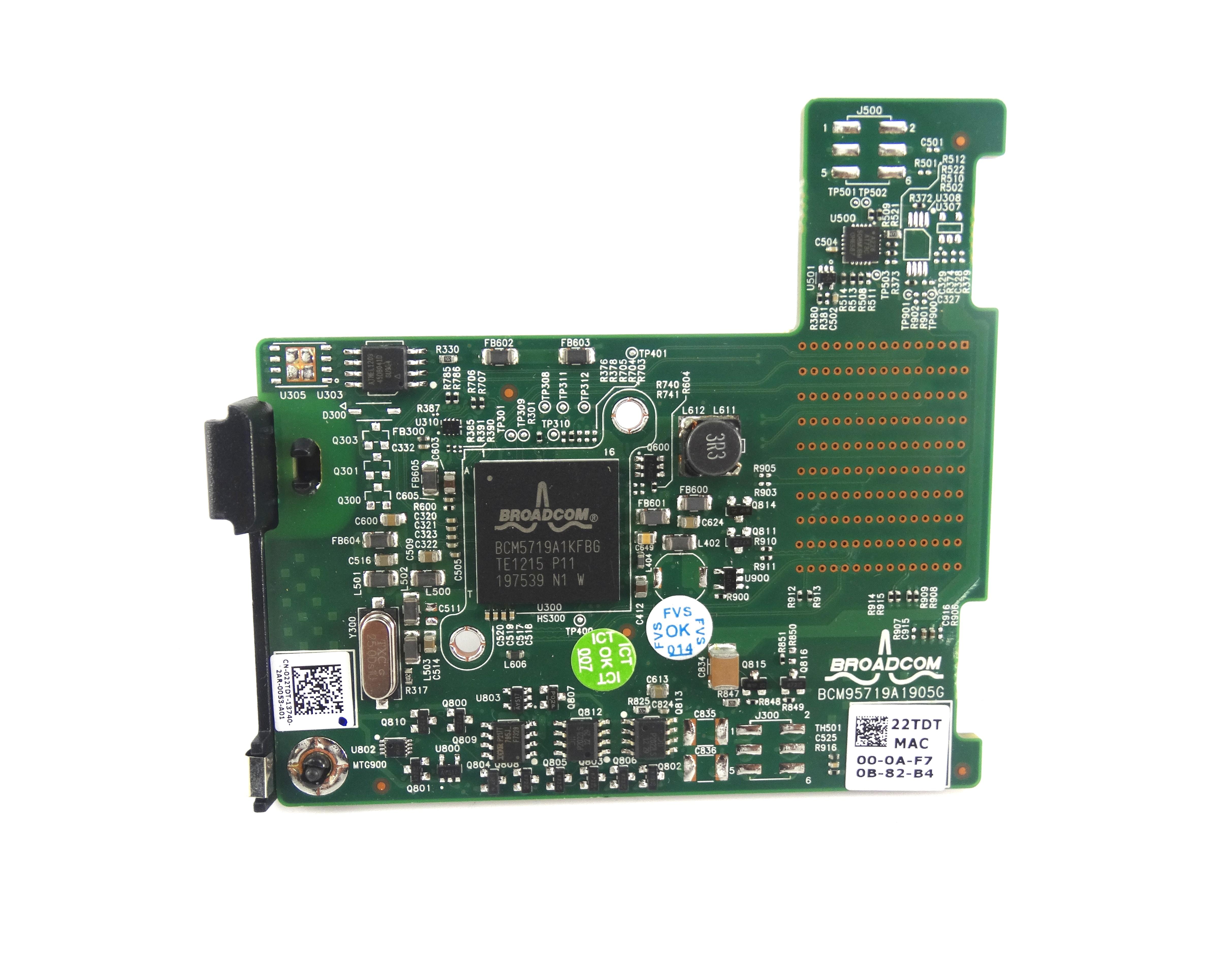 Dell Broadcom 5719 1Gbe Quad Port PCI-E 2.0 Mezzanine Card (22TDT)