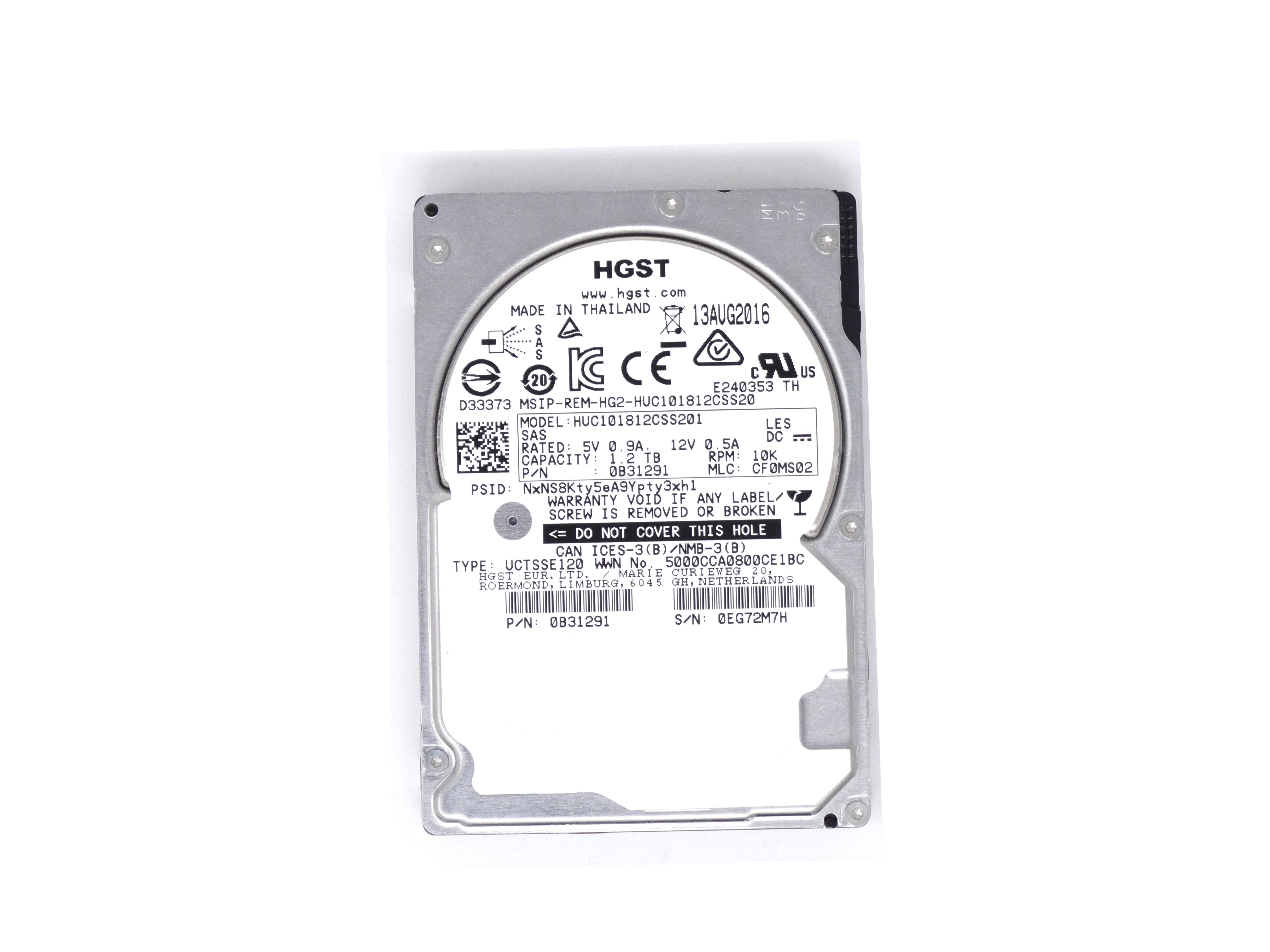 Hitachi 300GB 10K 6GBPS SAS 2.5'' Hard Drive HDD (HUC106030CSS600)