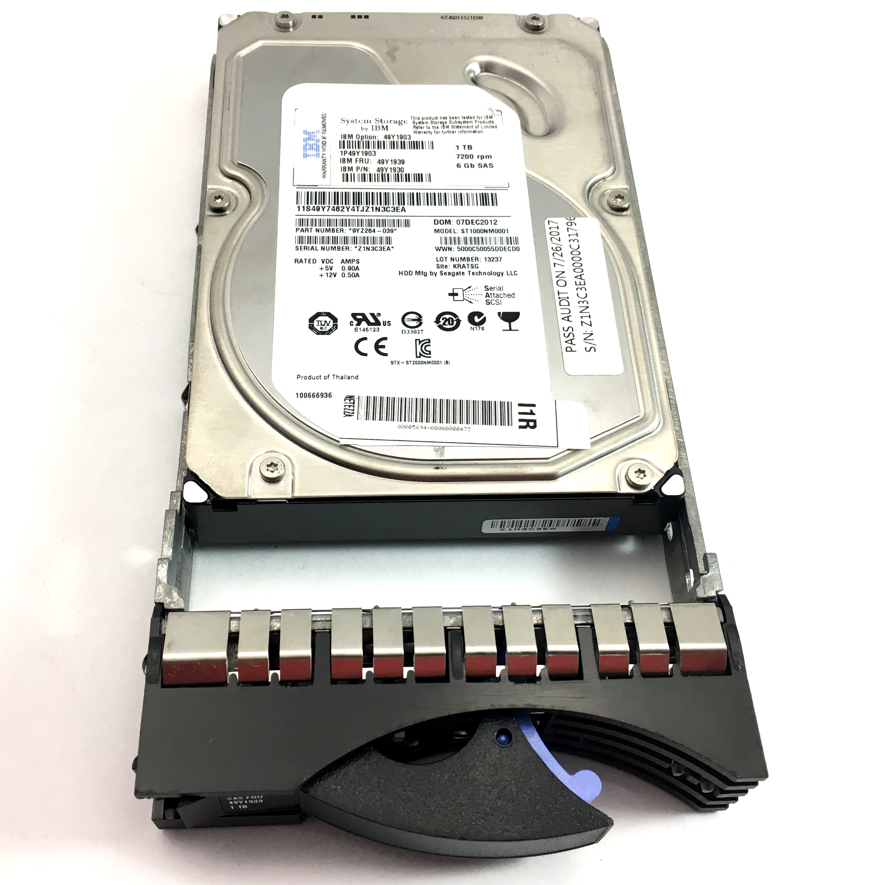 IBM 1TB 7200RPM 6GB/S 3.5'' SAS HARD DRIVE (49Y1939)