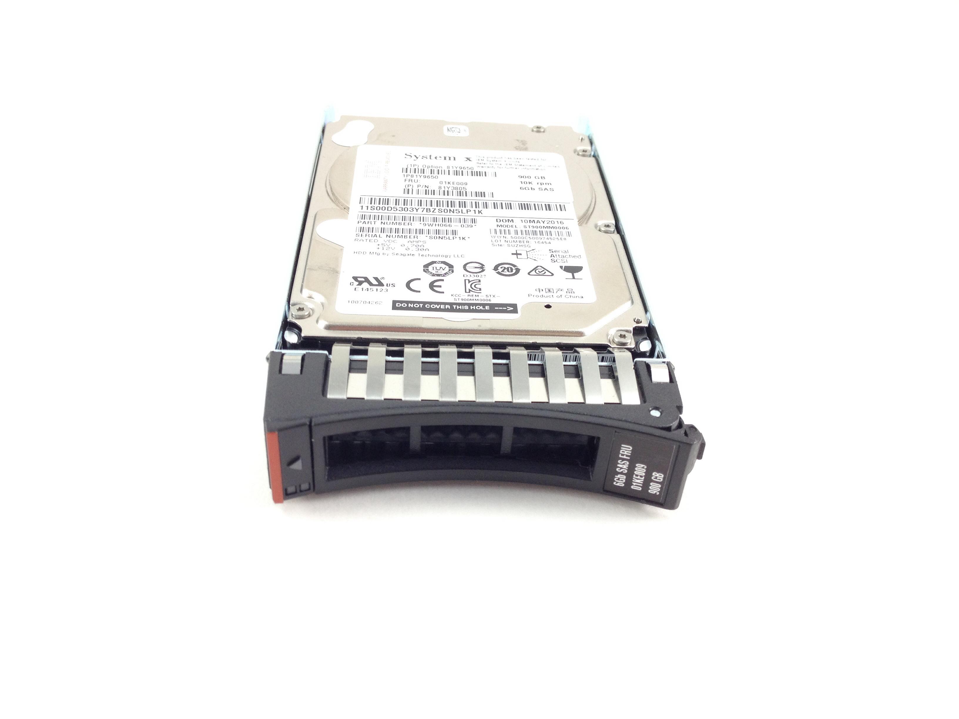 IBM 900GB 10K 6Gbps SAS 2.5'' Hard Drive (01KE009)