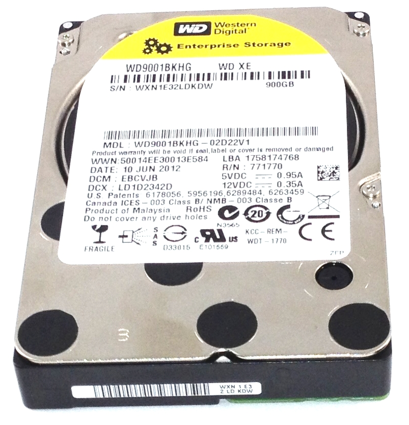 Western Digital 900GB 10K 6Gbps SAS 2.5'' Enterprise Hard Drive (WD9001BKHG)
