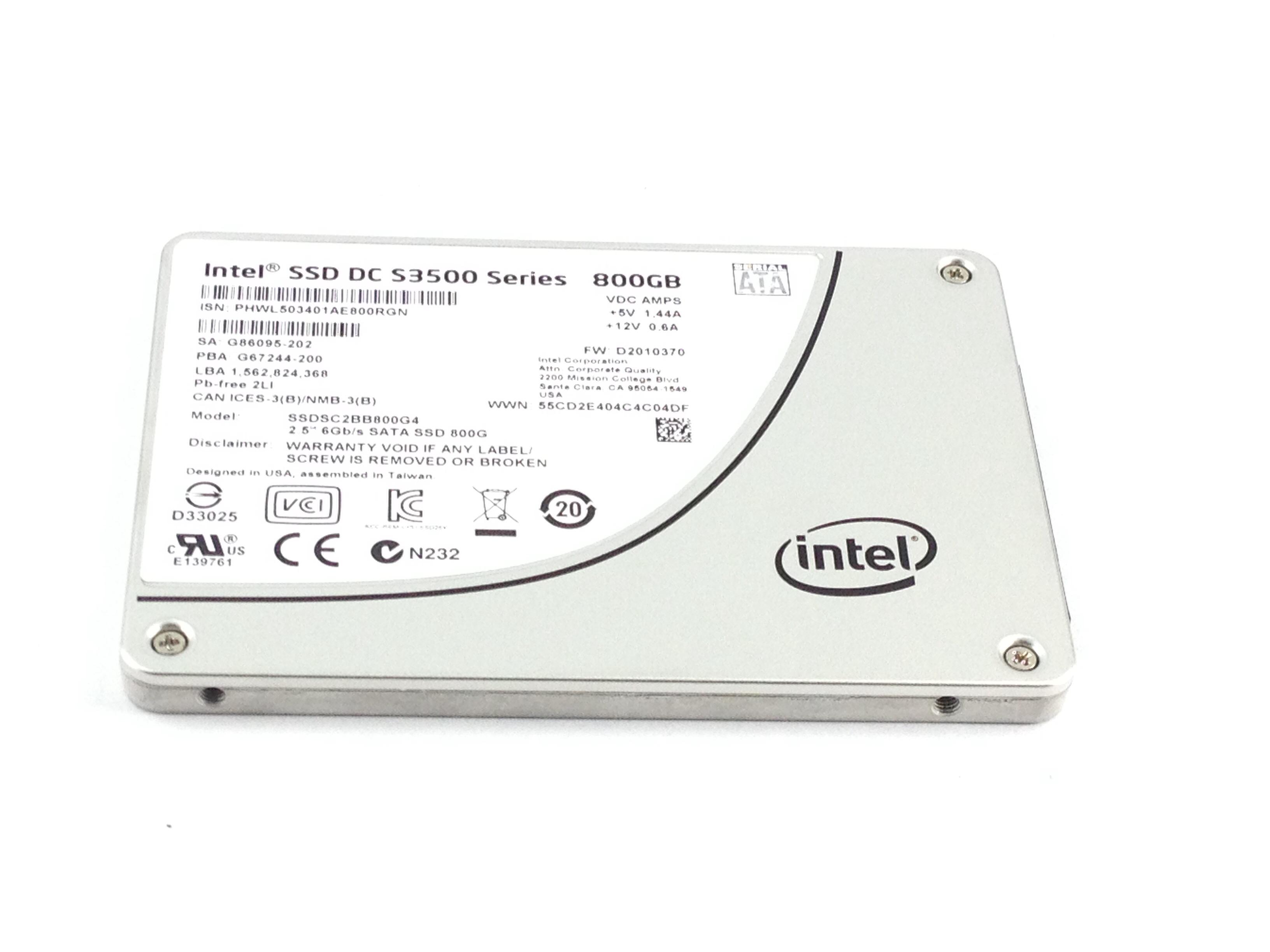 INTEL DC S3500 SERIES 800GB SATA 2.5'' SOLID STATE DRIVE SSD (SSDSC2BB800G4)