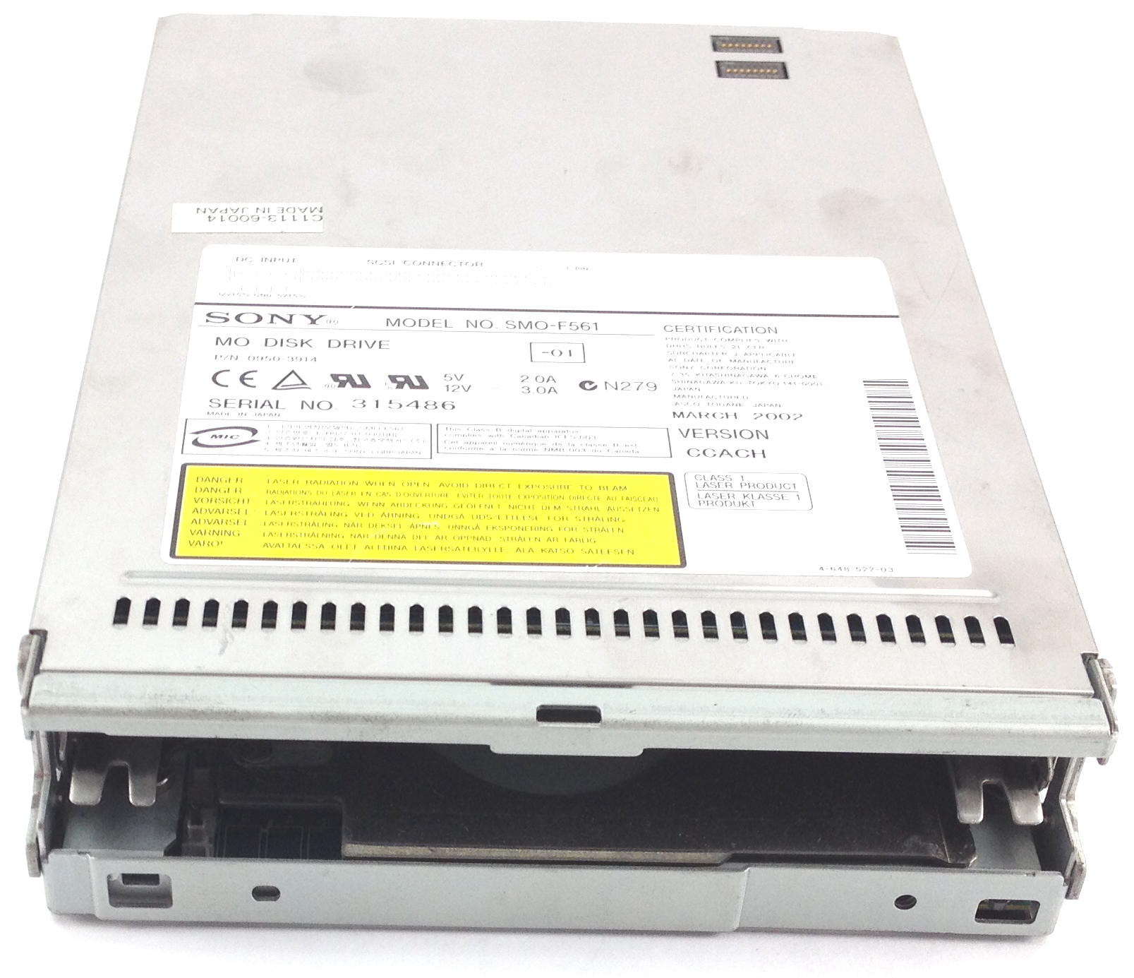 HP 9.1GB Magneto Optical Internal Loader Disk Drive (0950-3914)
