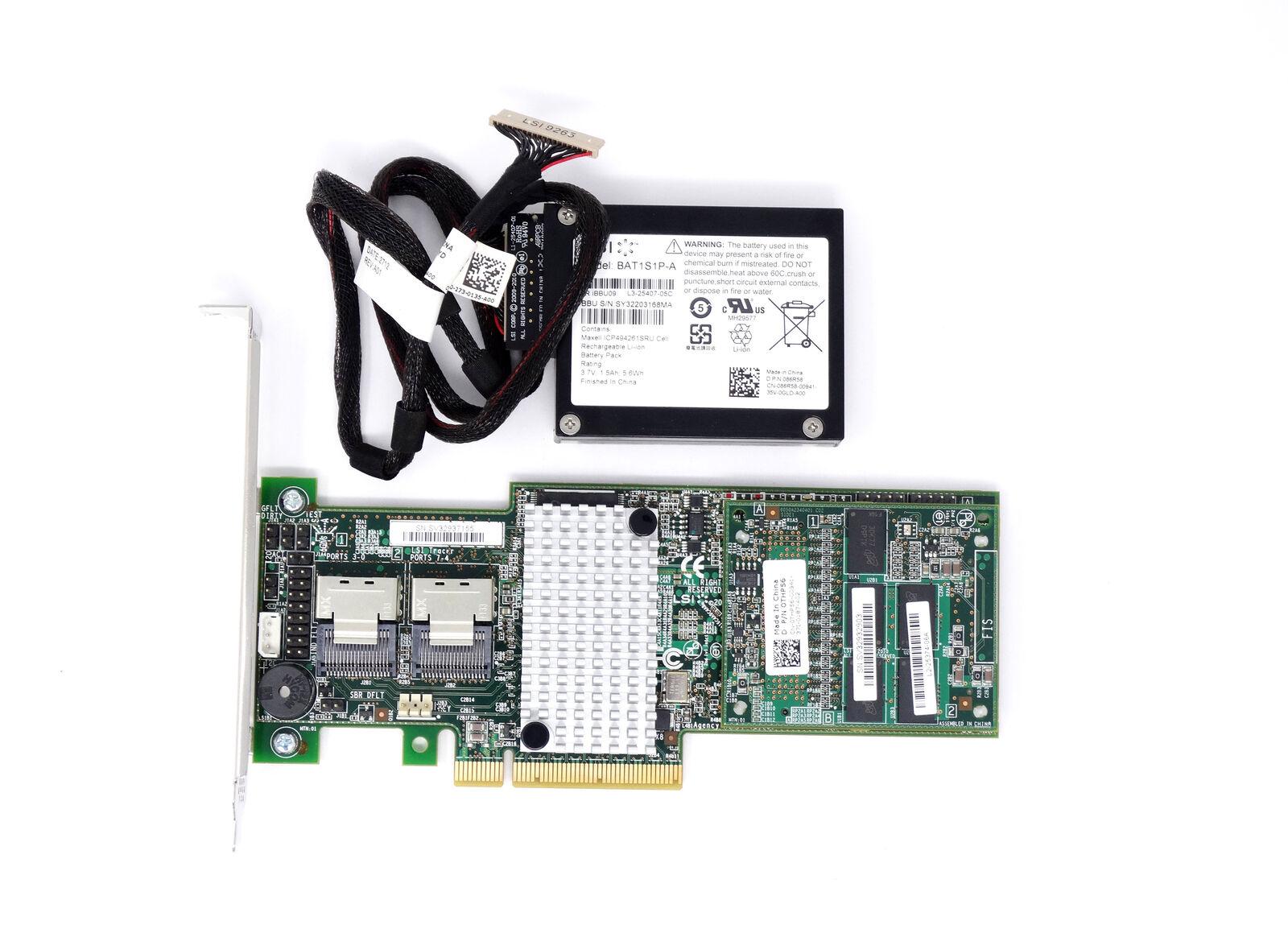 Dell LSI 9265-8I 6Gb/s 1GB 8-Port PCIe SAS SATA Raid Controller Card (PRMX8)