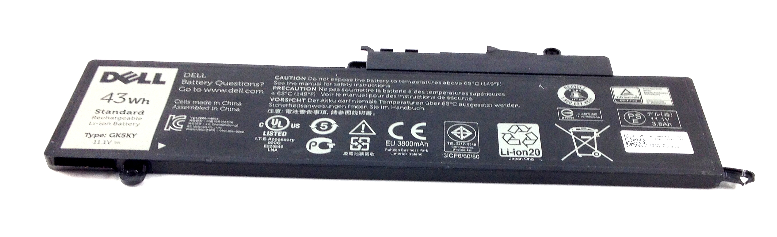 43Wh Battery For Dell Inspiron 13 7347 Series (0WF28)